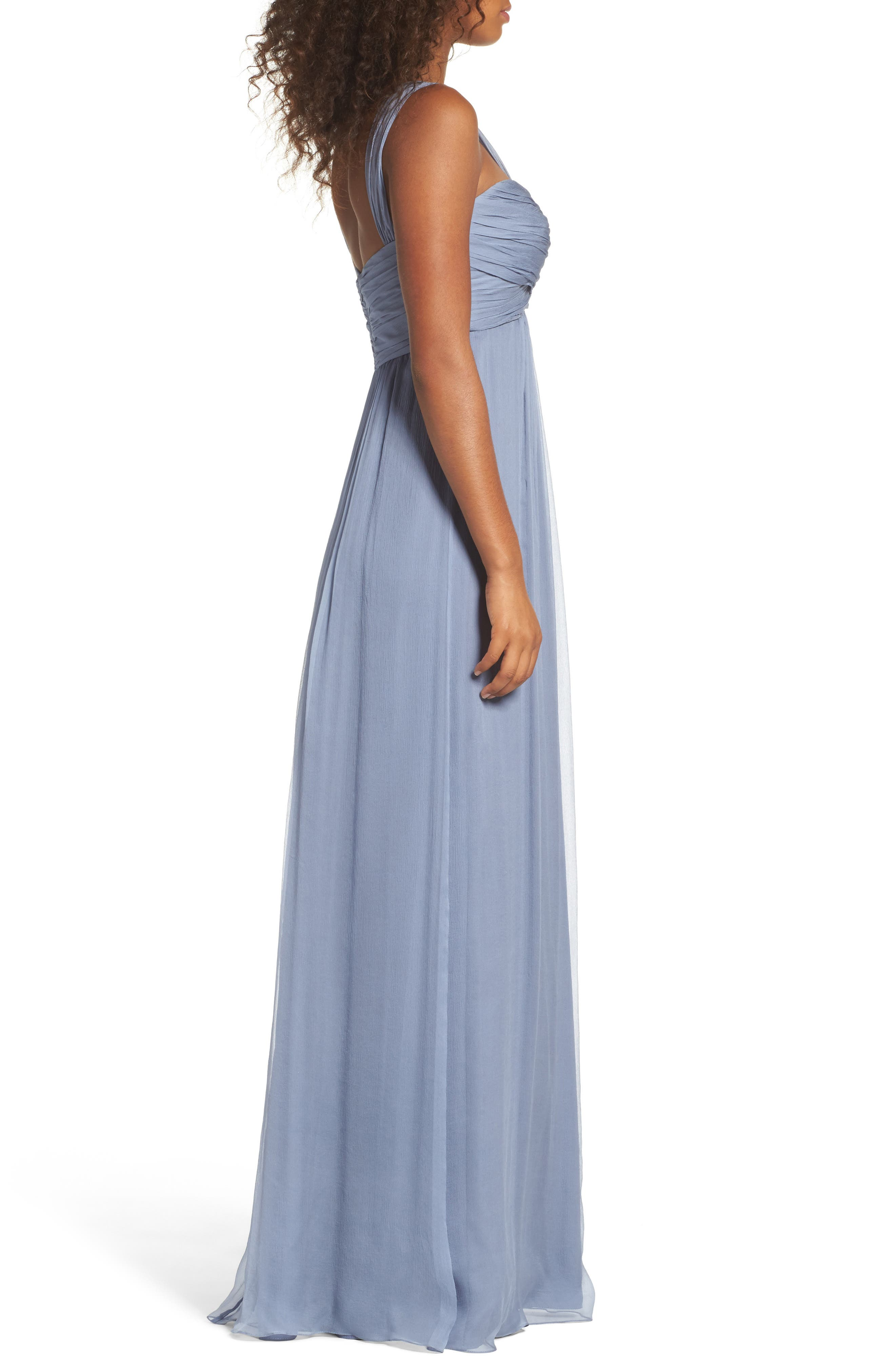 Corbin Crinkled Chiffon Empire Gown,                             Alternate thumbnail 5, color,