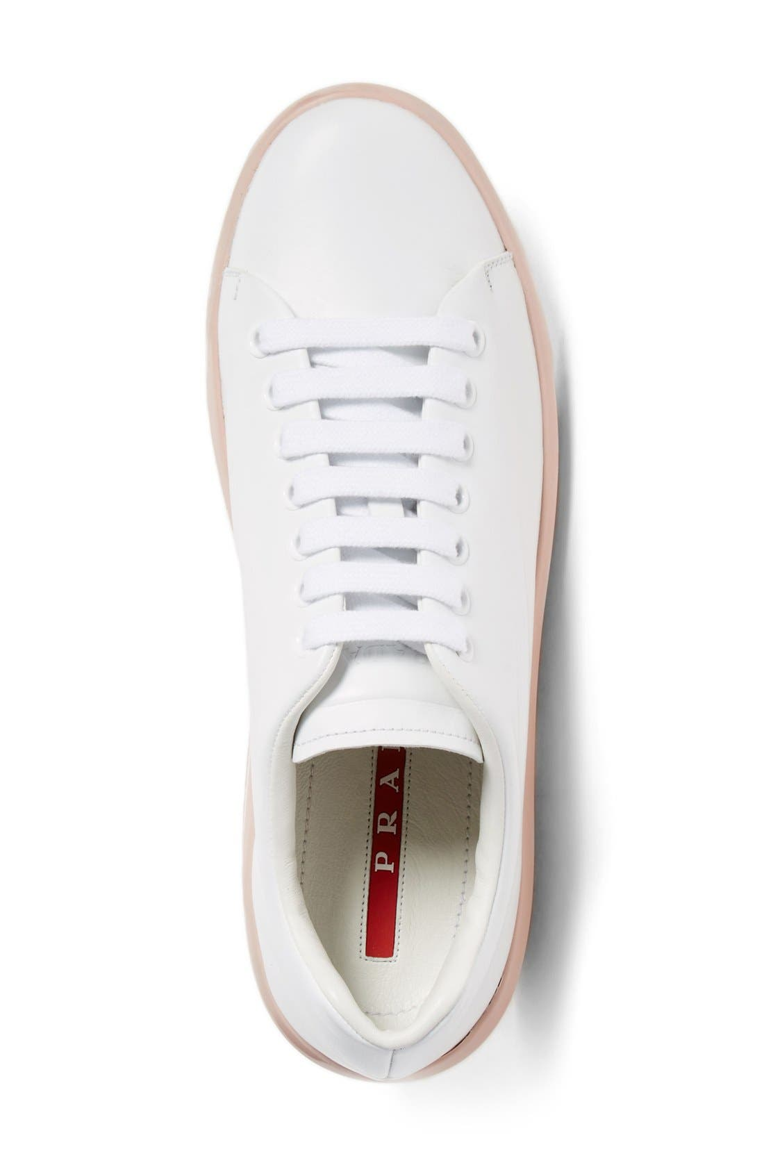 Platform Lace-Up Sneaker,                             Alternate thumbnail 5, color,                             100