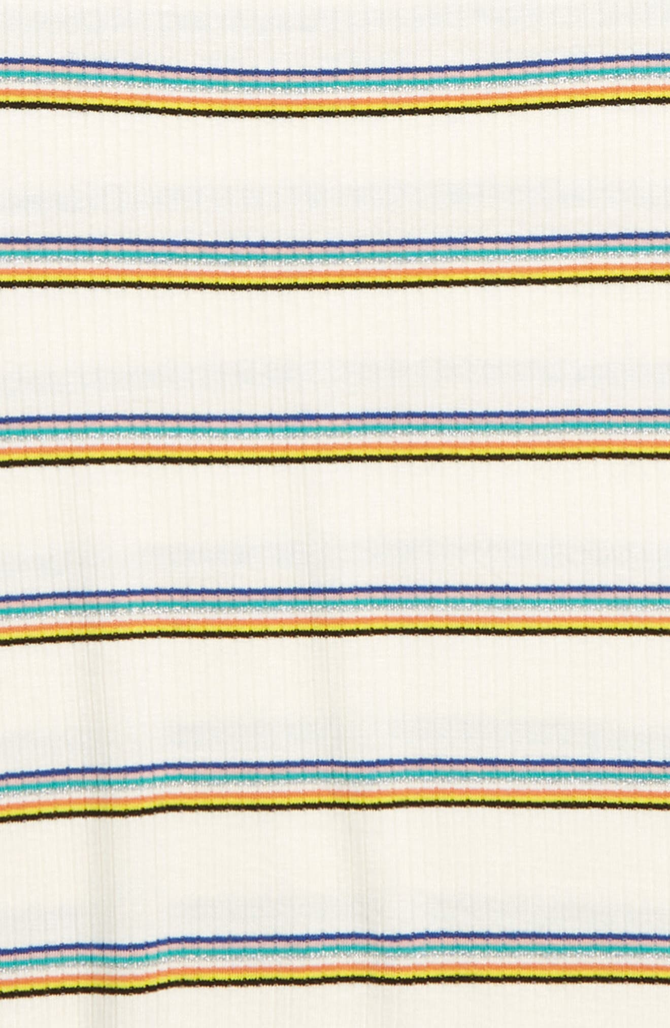 Metallic Rainbow Stripe Ribbed Tee,                             Alternate thumbnail 2, color,                             FRUITY RAINBOW