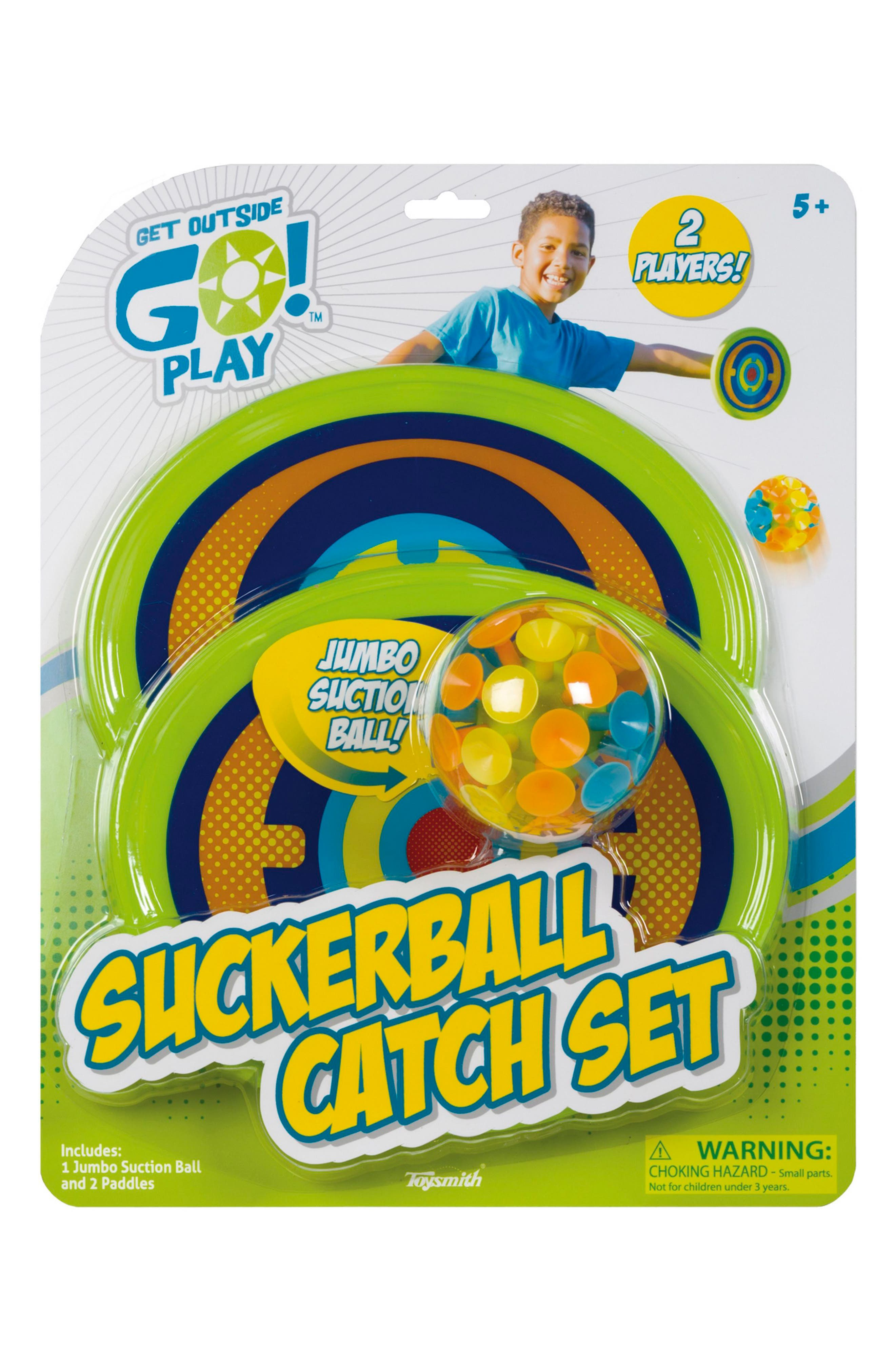 Suckerball Catch Set,                             Main thumbnail 1, color,                             GREEN