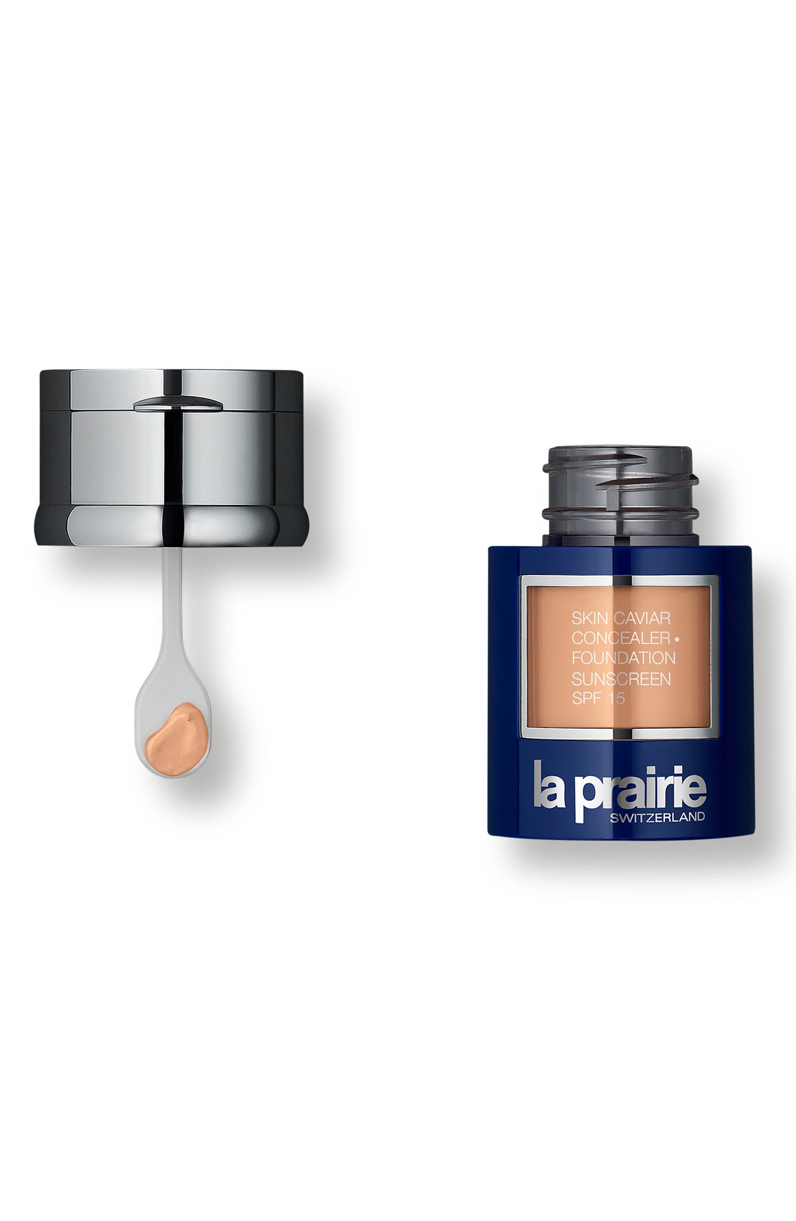 Skin Caviar Concealer + Foundation Sunscreen SPF 15,                             Alternate thumbnail 3, color,                             WARM BEIGE