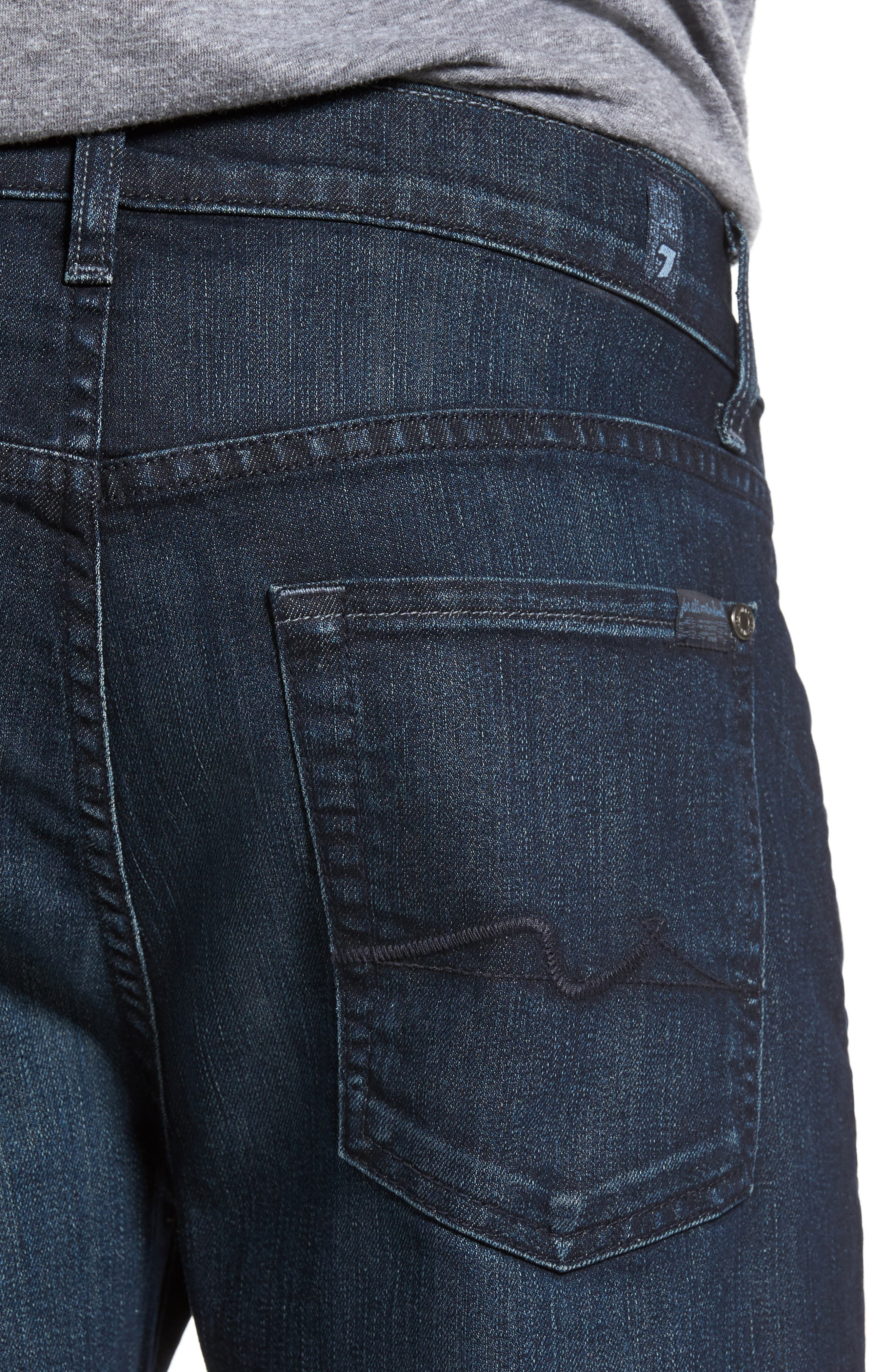 7 FOR ALL MANKIND<SUP>®</SUP>,                             The Straight Airweft Slim Straight Slim Leg Jeans,                             Alternate thumbnail 4, color,                             PERENNIAL