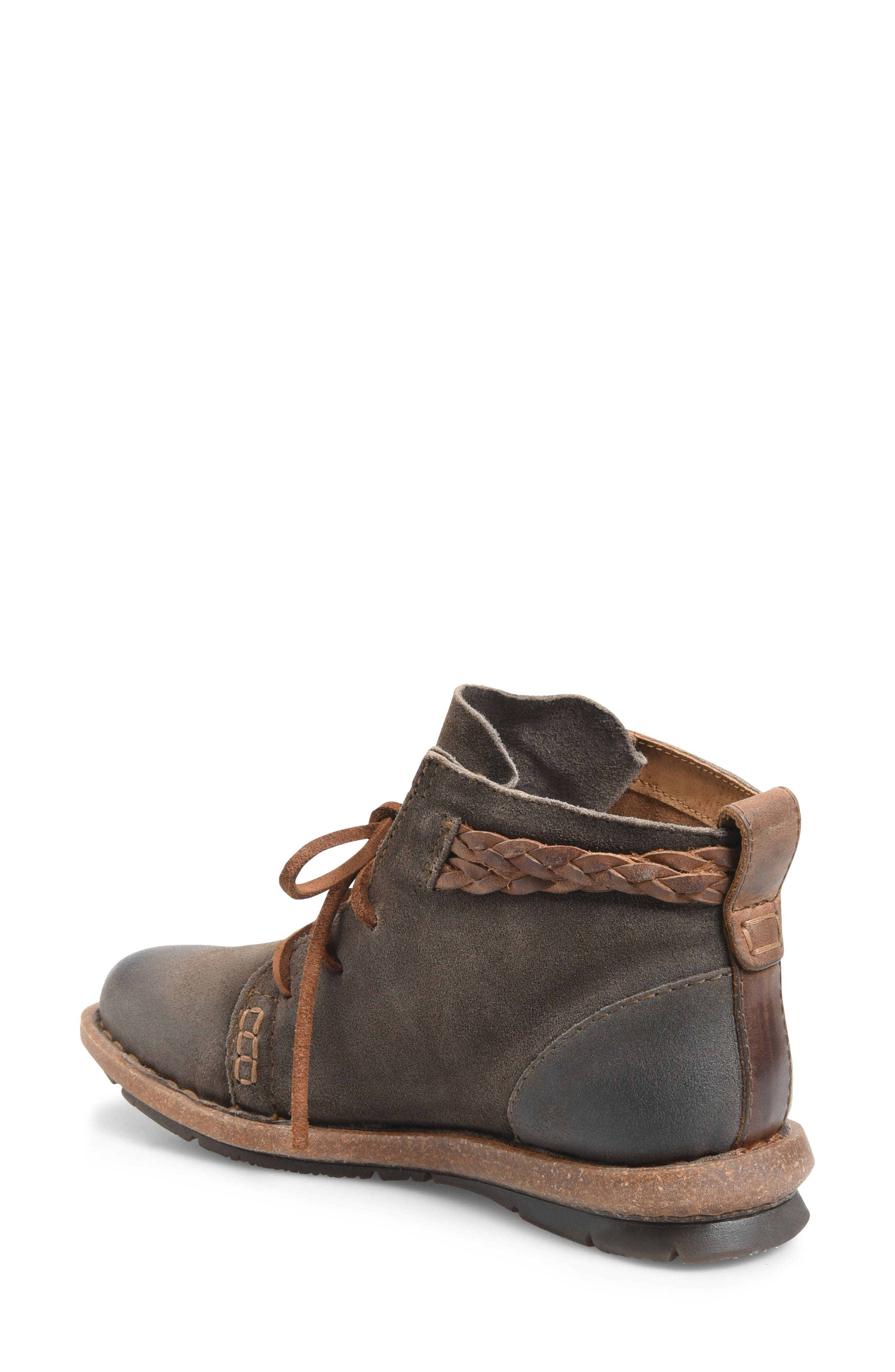 Temple Bootie,                             Alternate thumbnail 2, color,                             TAUPE DISTRESSED LEATHER
