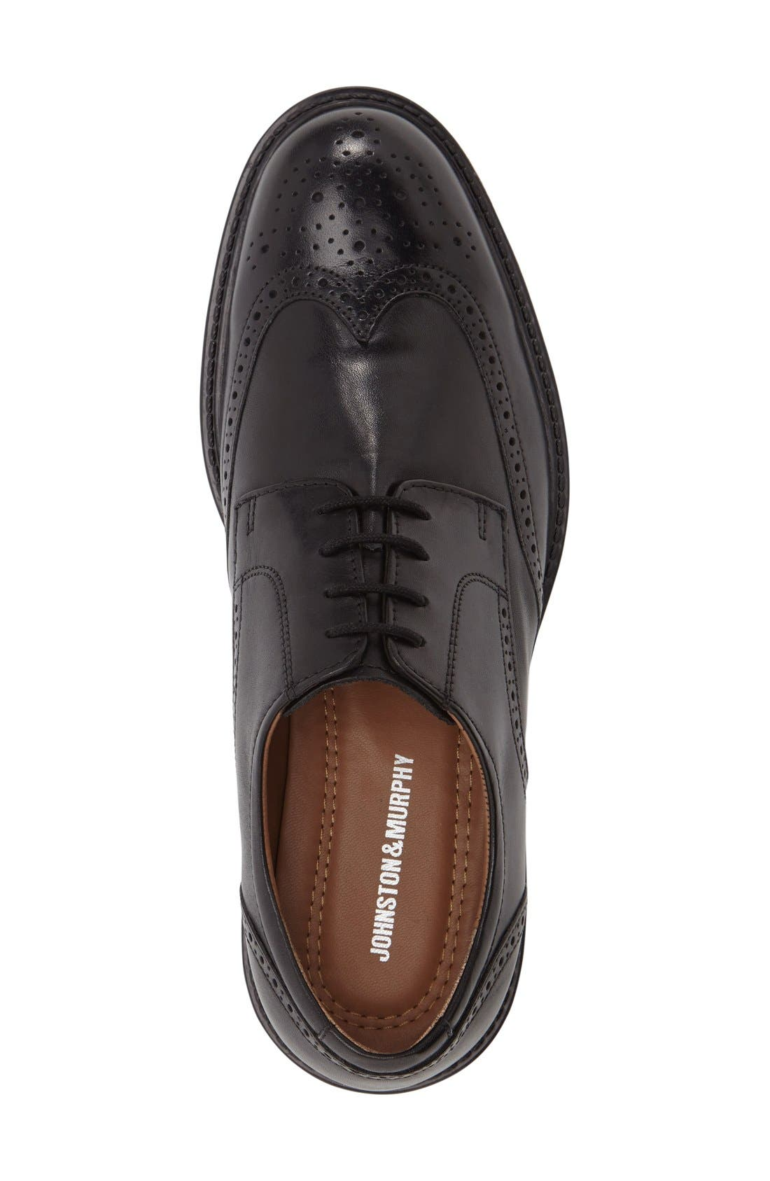 Tabor Wingtip,                             Alternate thumbnail 3, color,                             BLACK LEATHER