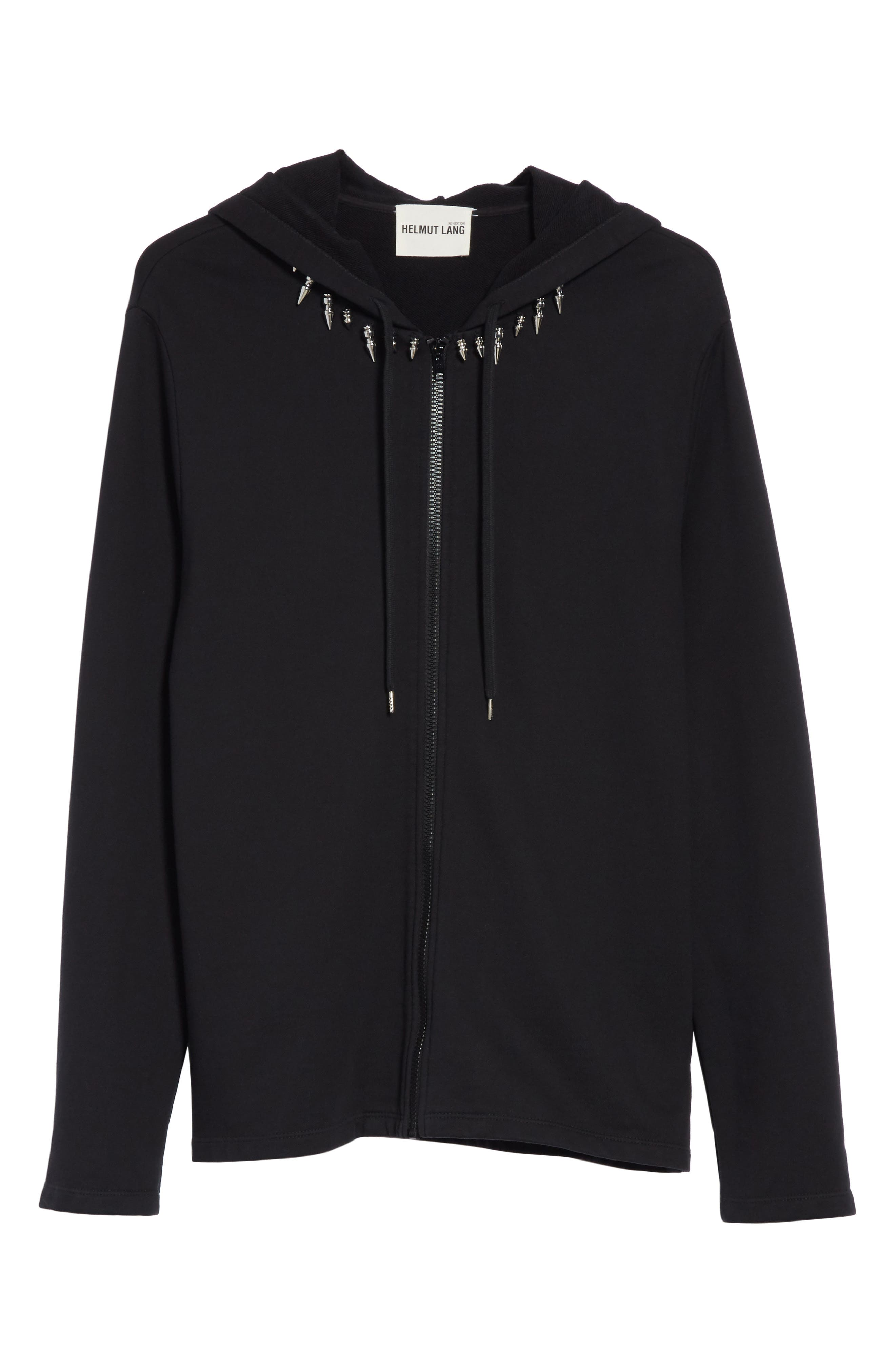 Re-Edition Stud Collar Hoodie,                             Alternate thumbnail 6, color,                             001