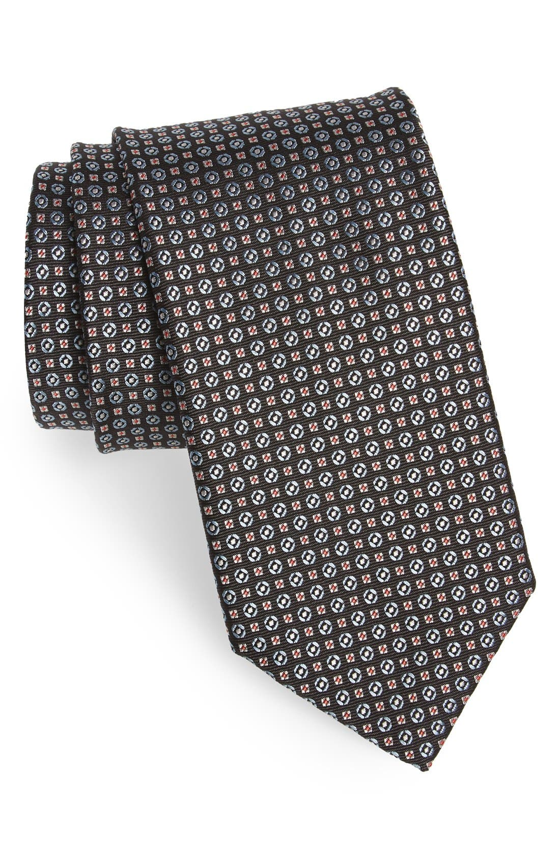 Geometric Silk Tie,                         Main,                         color, 200