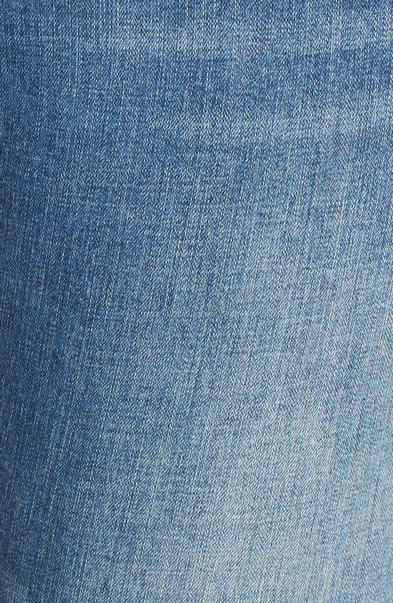 Ginger Glitter Stripe Skinny Jeans,                             Alternate thumbnail 5, color,                             420