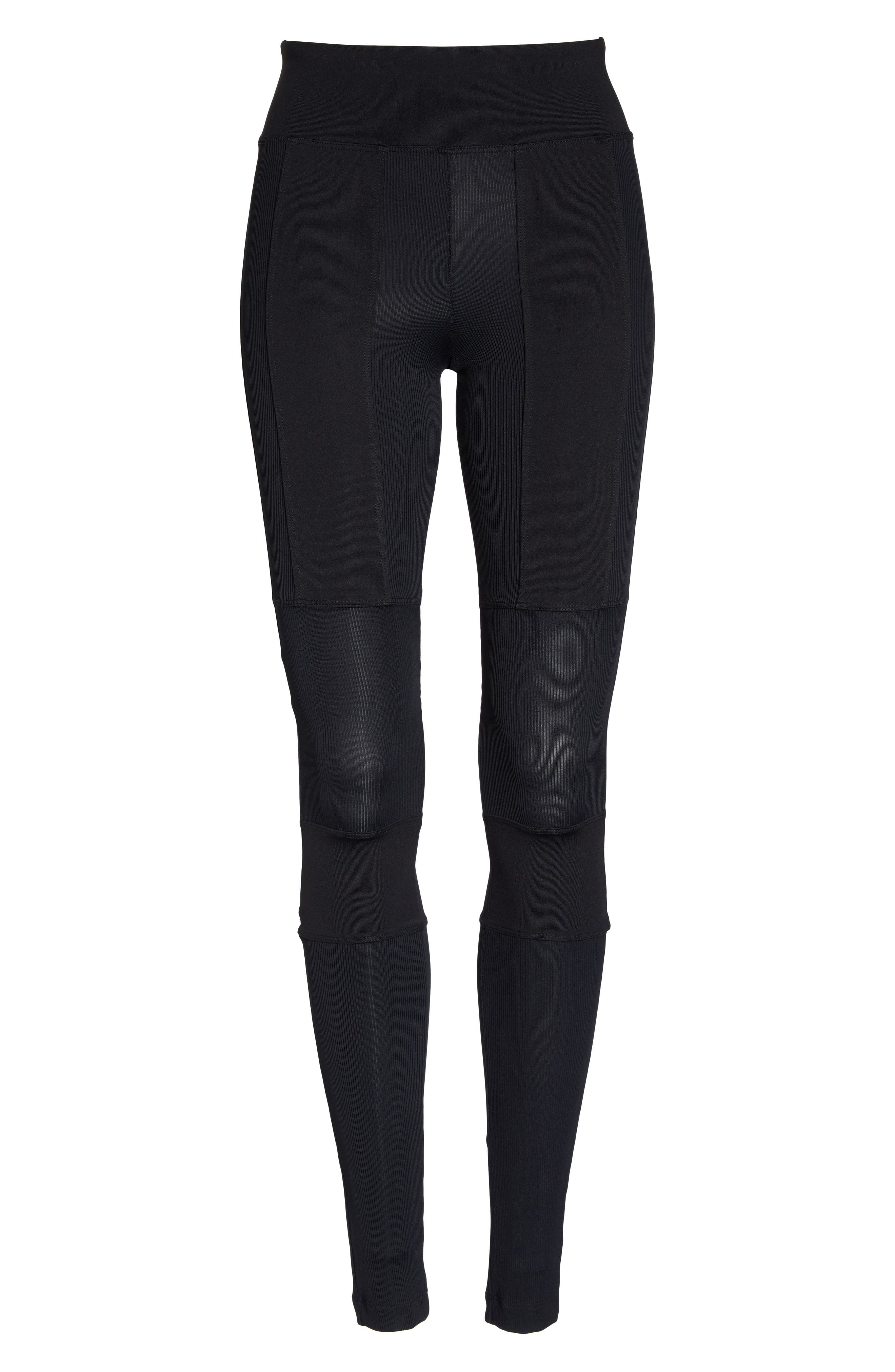 Rappel High Waist Leggings,                             Alternate thumbnail 7, color,                             001