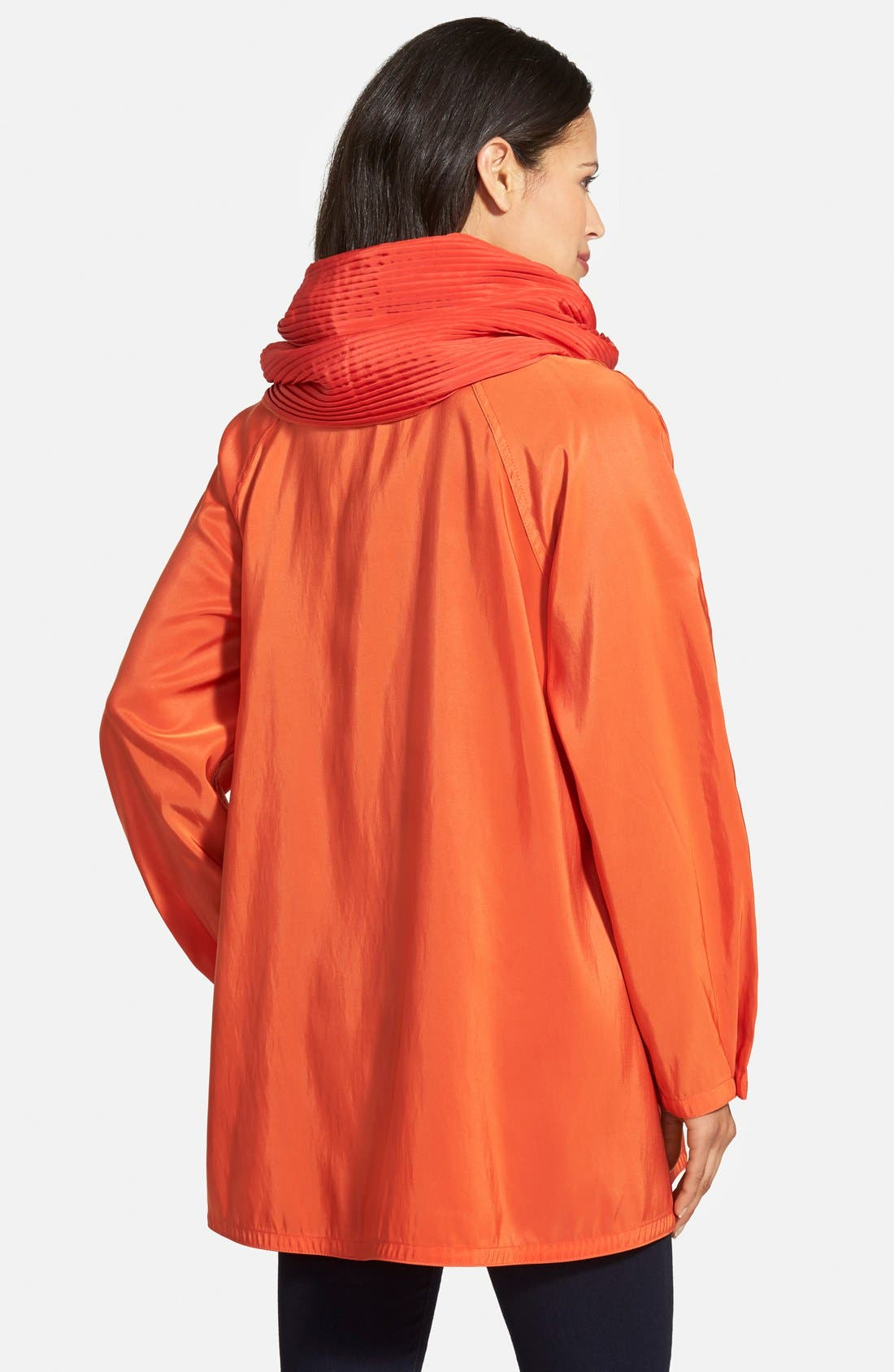 'Mini Donatella' Reversible Pleat Hood Packable Travel Coat,                             Alternate thumbnail 74, color,