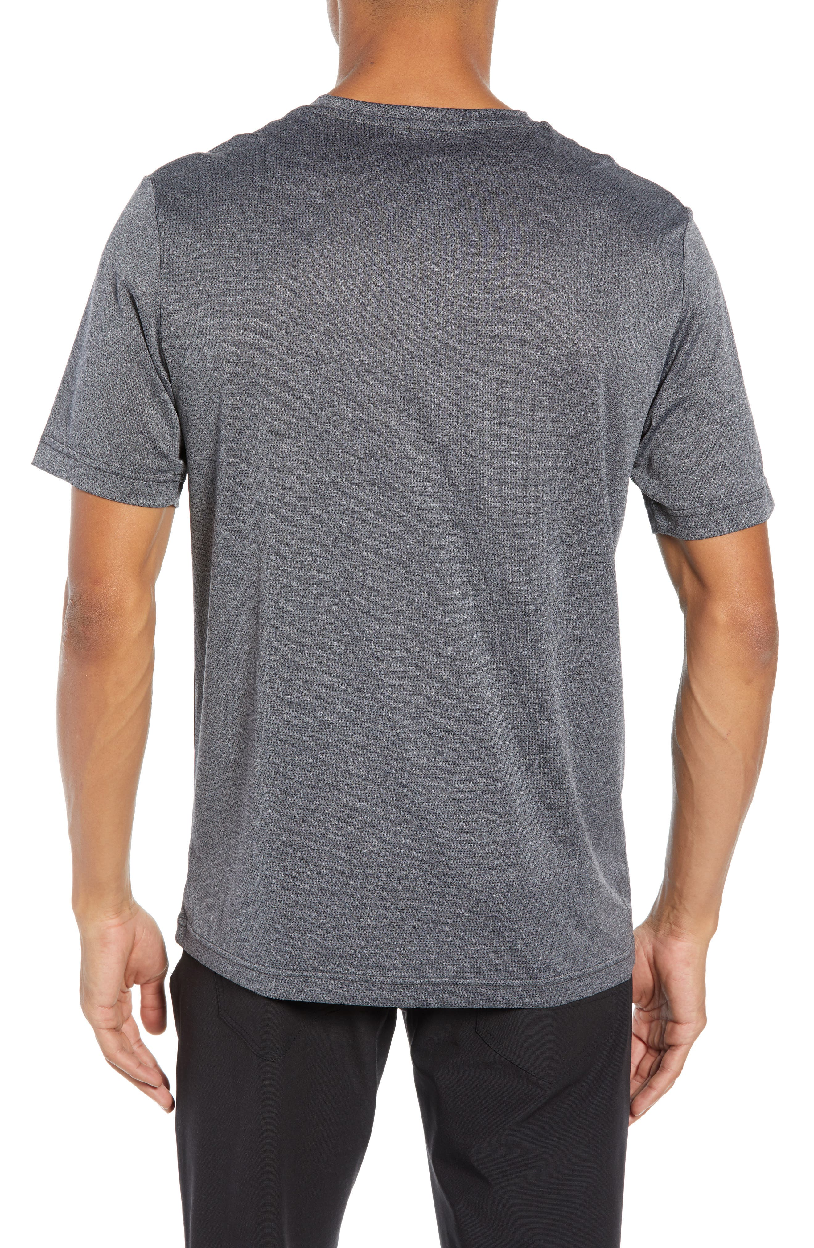 Cutoff Pocket T-Shirt,                             Alternate thumbnail 2, color,                             HEATHER MAGNET