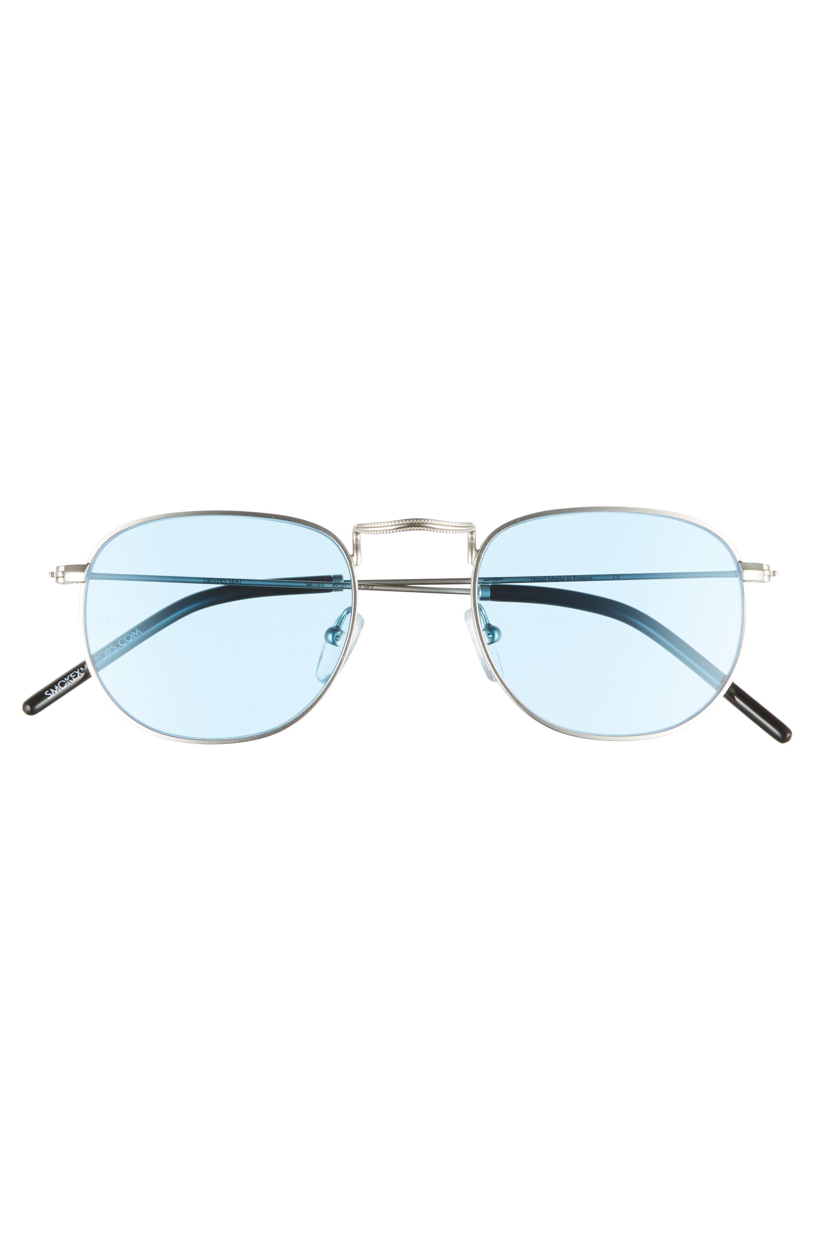 Driver's Seat 49mm Sunglasses,                             Alternate thumbnail 2, color,                             SILVER/ TRANSPARENT BLUE
