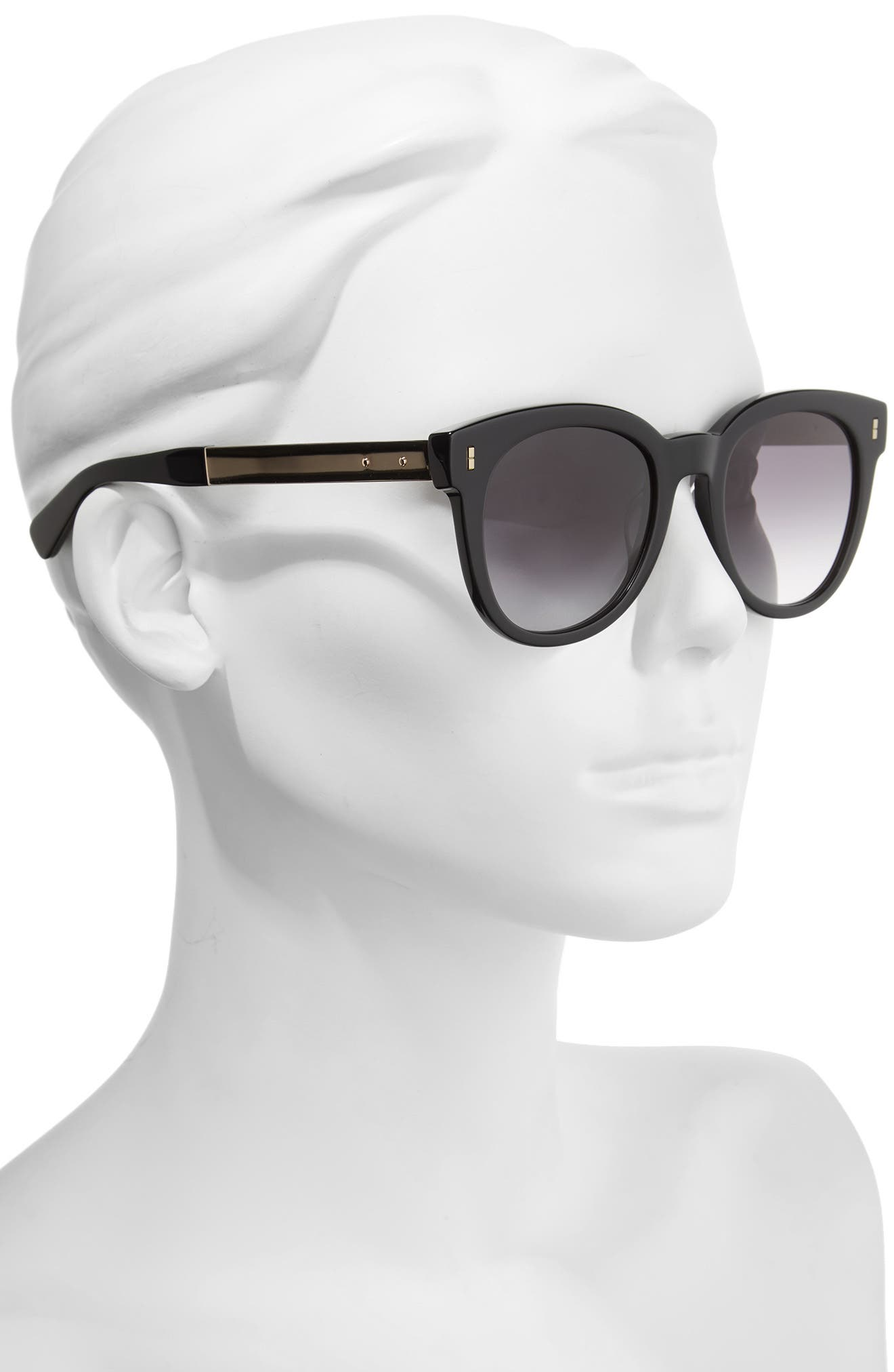 The Hannah 50mm Gradient Sunglasses,                             Alternate thumbnail 2, color,                             001