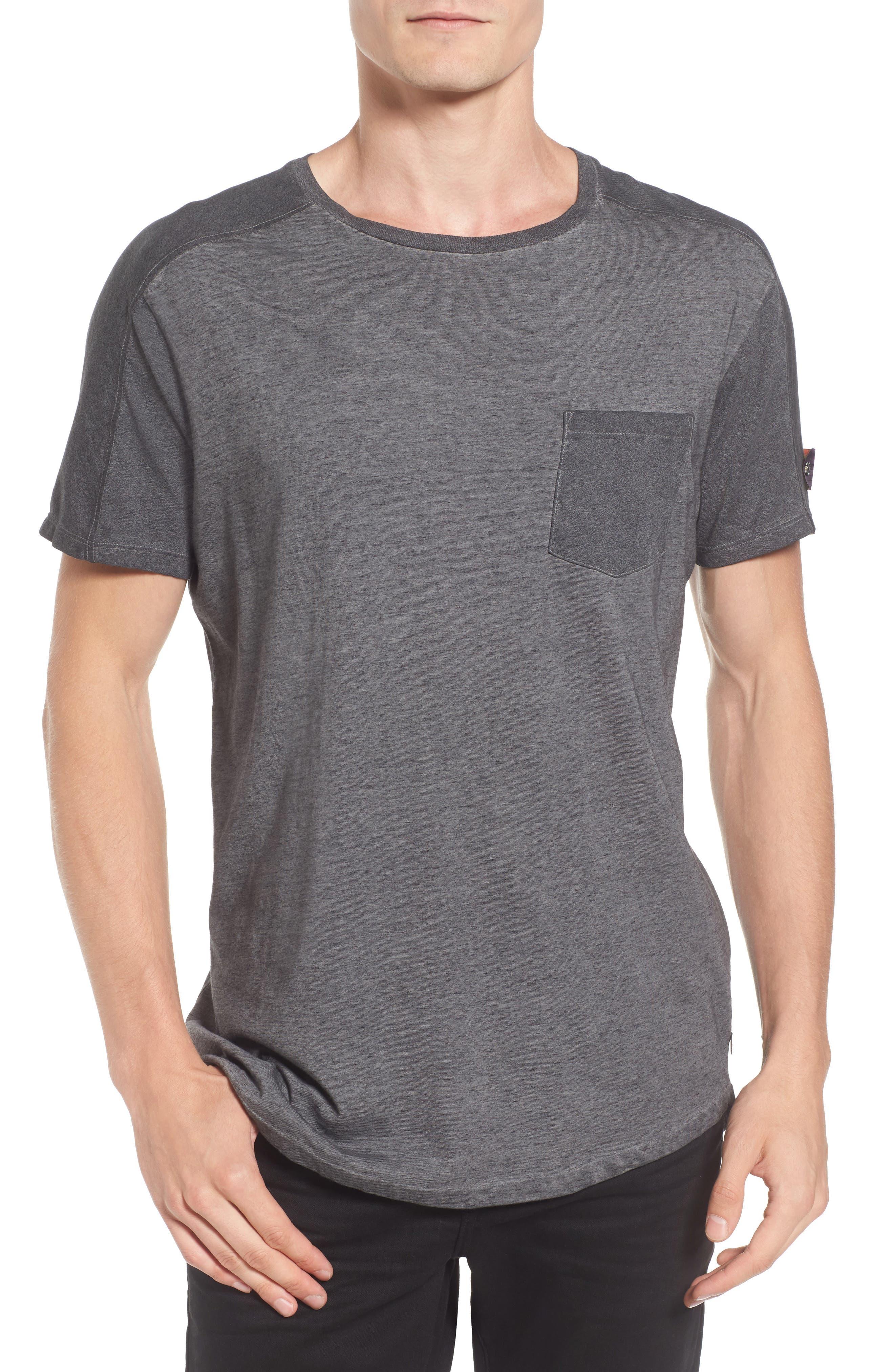 Oil-Washed Pocket T-Shirt,                         Main,                         color, 021