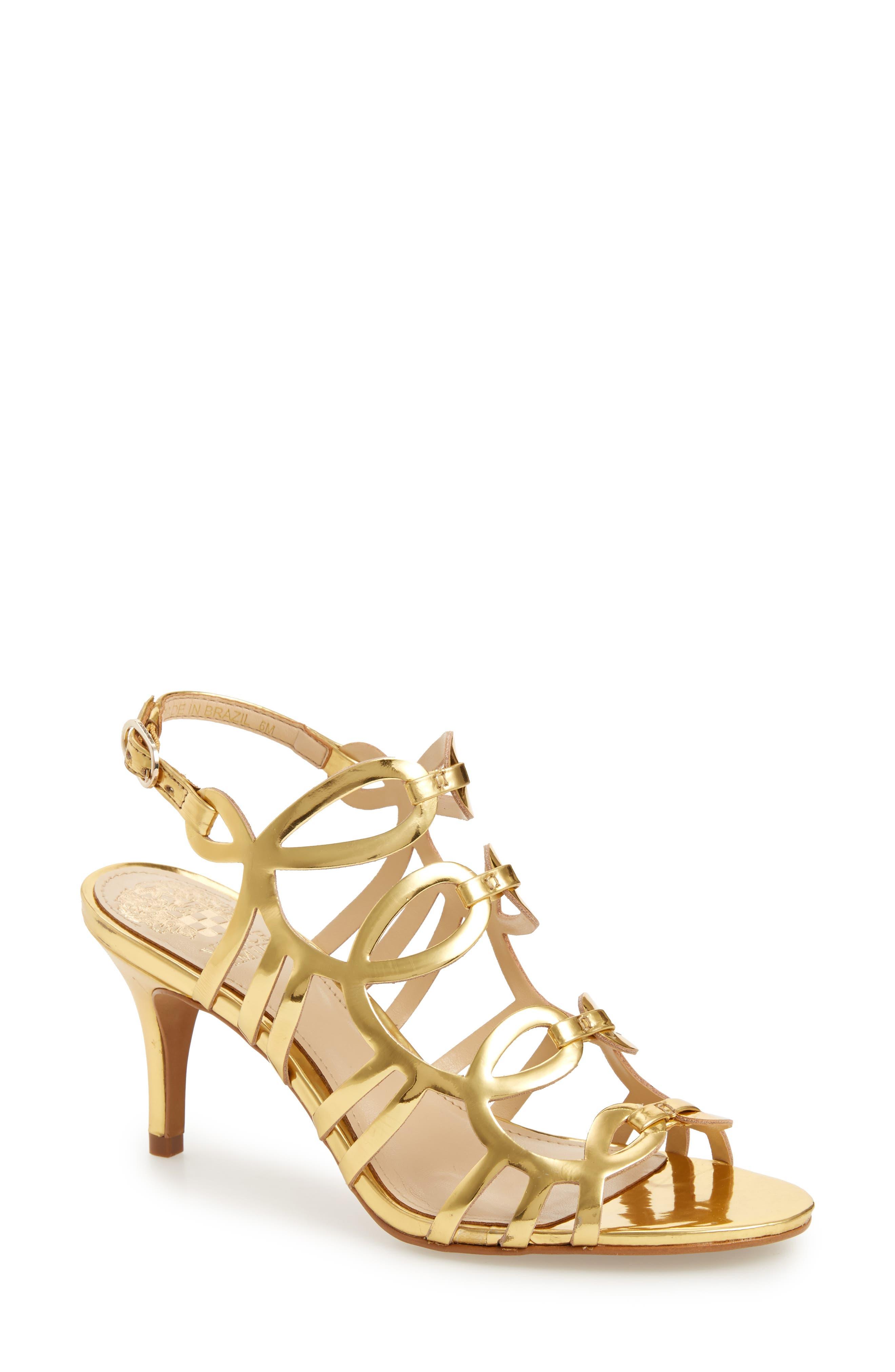 Petina Sandal,                         Main,                         color, GOLD