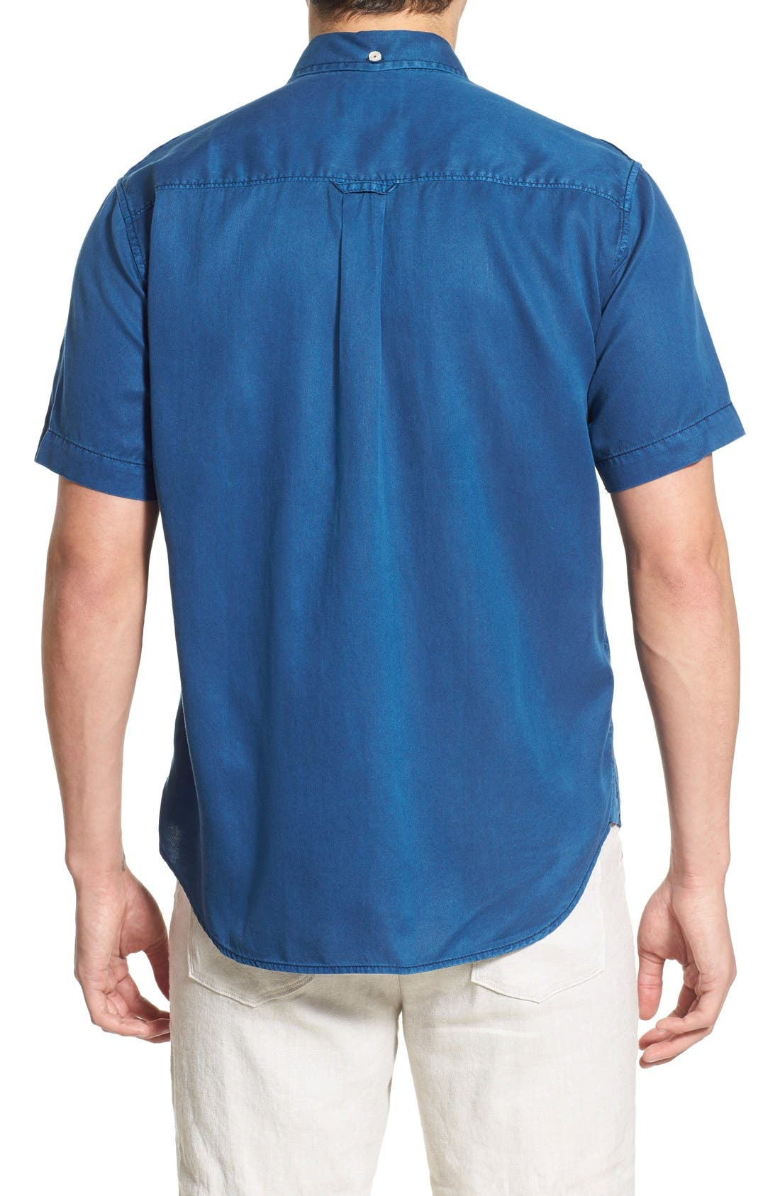 'New Twilly' Island Modern Fit Short Sleeve Twill Shirt,                             Alternate thumbnail 46, color,