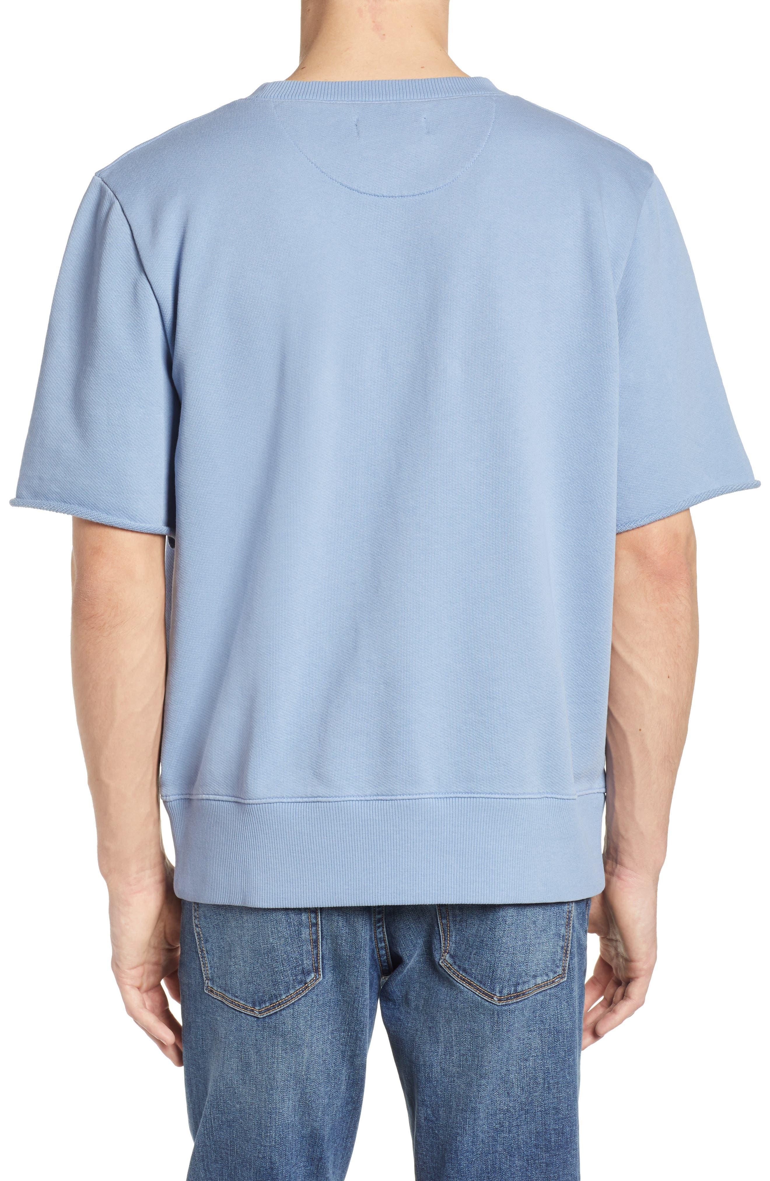 Cotton Terry Sweatshirt,                             Alternate thumbnail 3, color,