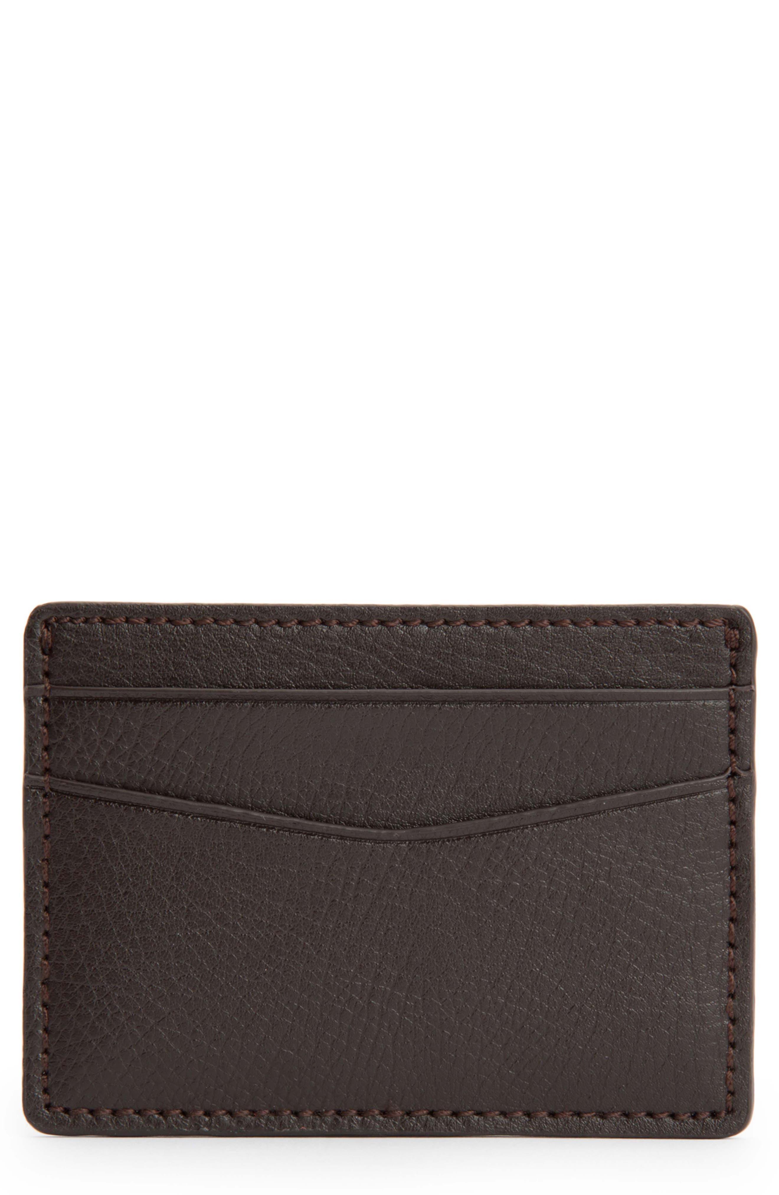 Blake Card Case,                         Main,                         color, BROWN