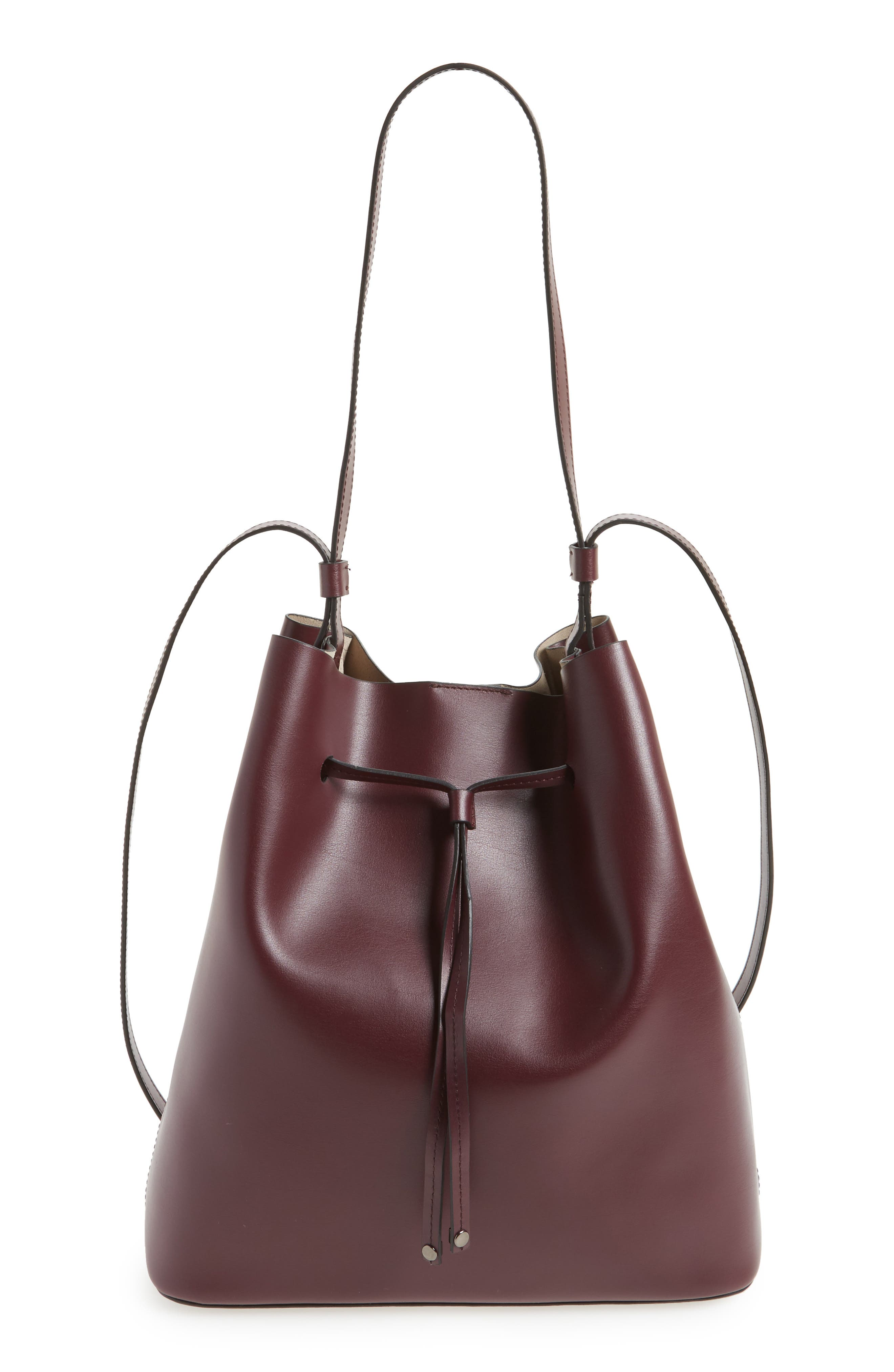 Silicon Valley Large Halina Leather Bucket Bag,                             Main thumbnail 3, color,