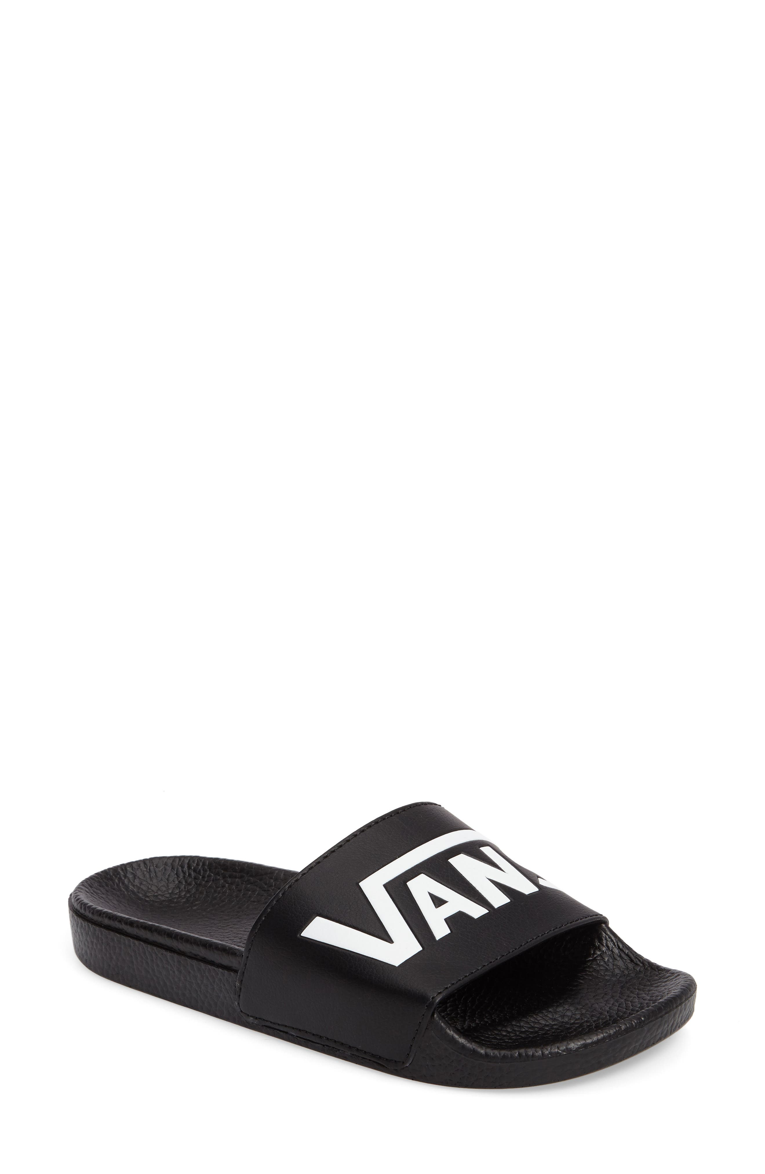 Slide-On Sandal,                             Main thumbnail 1, color,                             BLACK