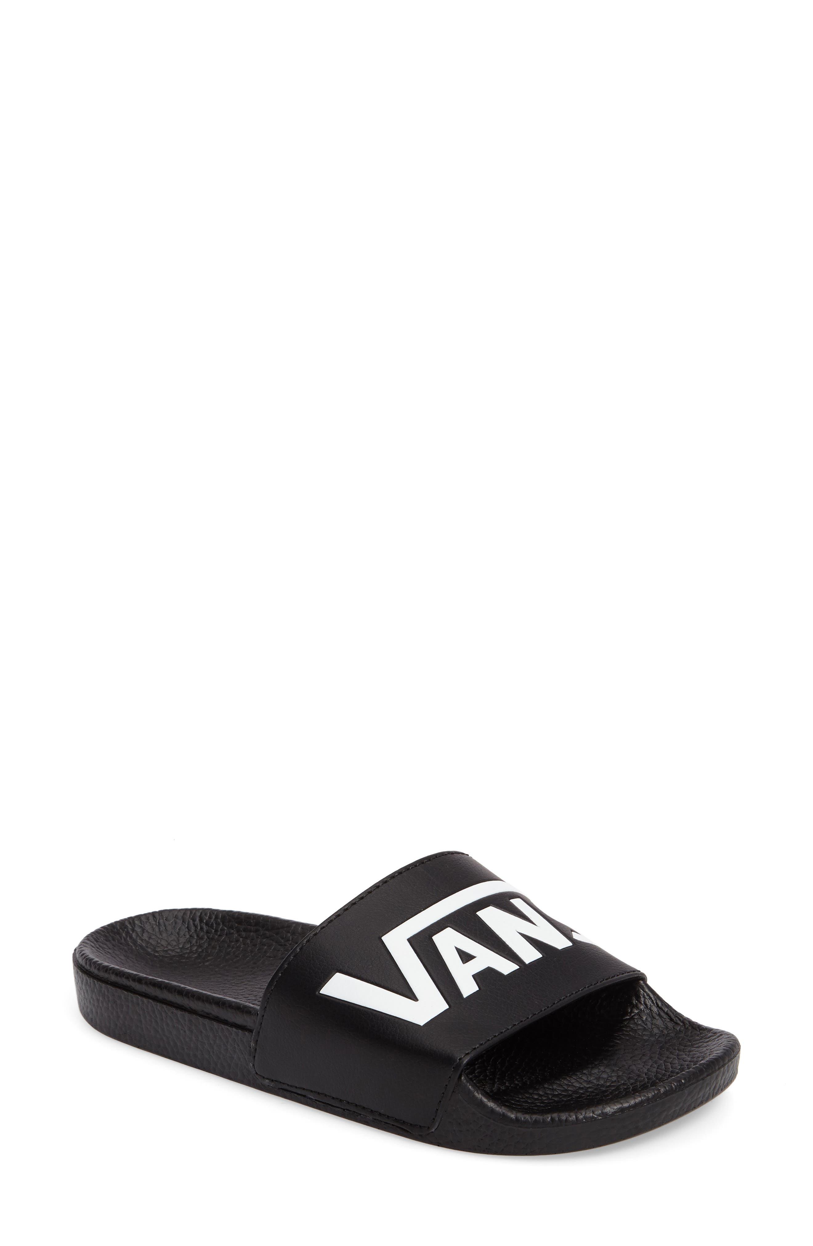 Slide-On Sandal,                         Main,                         color, BLACK
