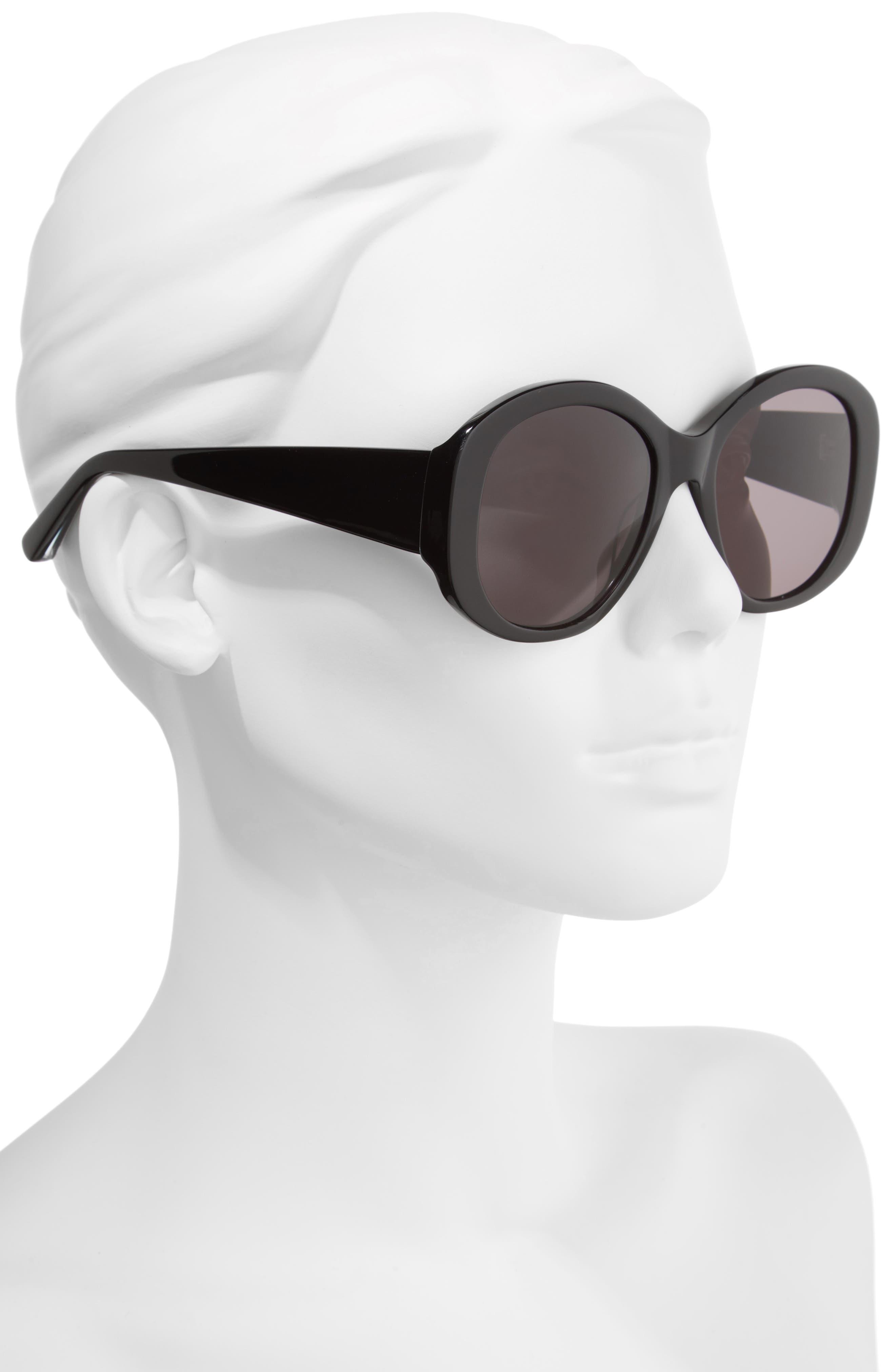 Kay 54mm Round Sunglasses,                             Alternate thumbnail 2, color,                             001