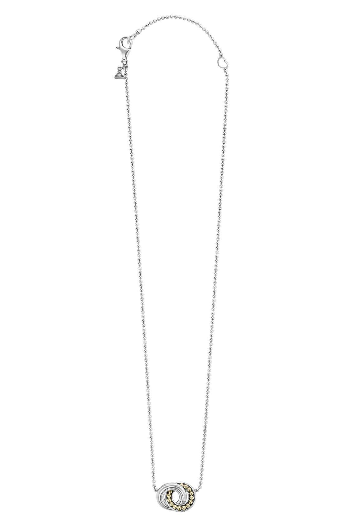 Enso Pendant Necklace,                             Alternate thumbnail 3, color,                             SILVER/ PEARL