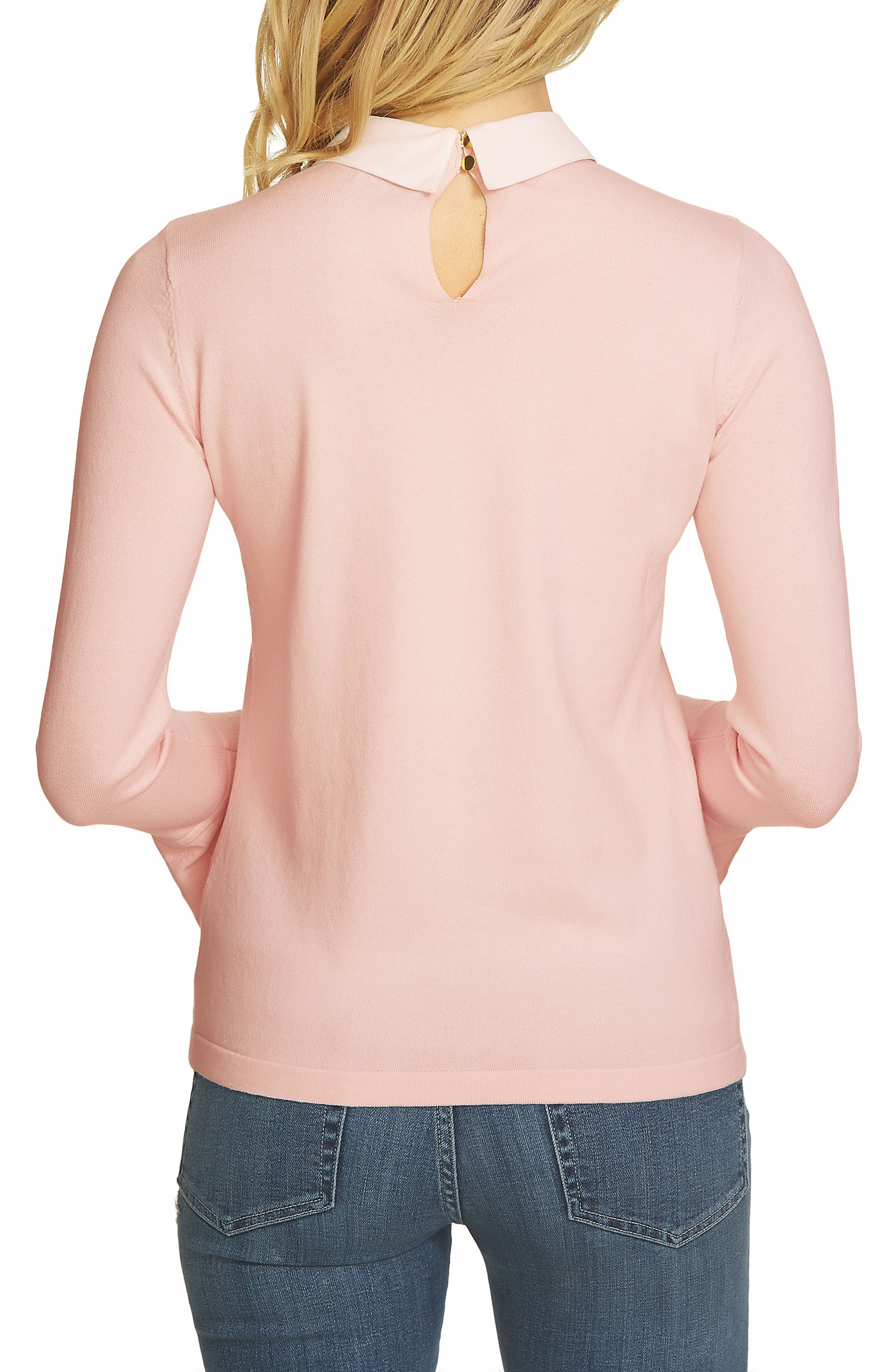 Collar Bell Sleeve Sweater,                             Alternate thumbnail 4, color,