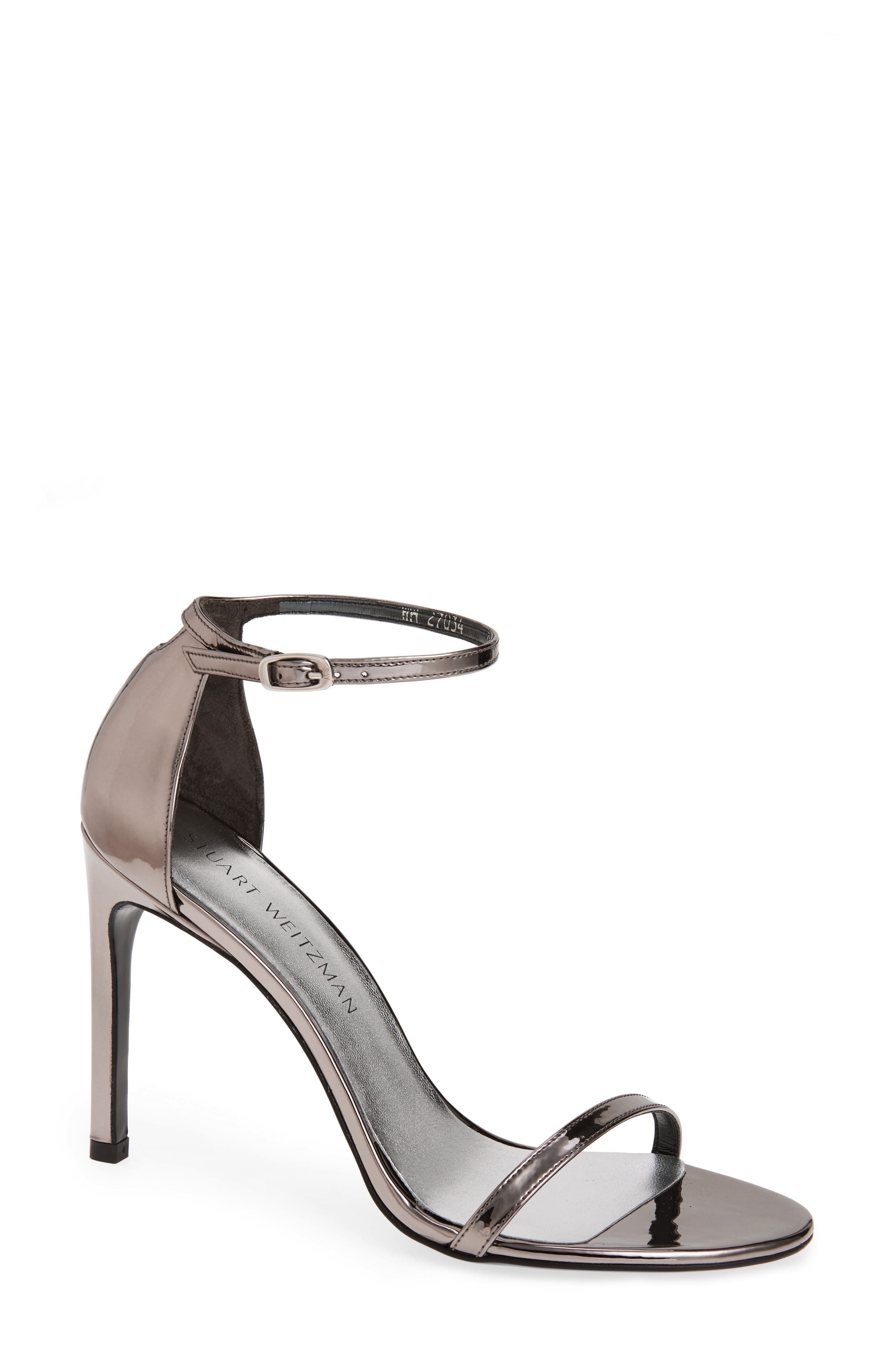 Nudistsong Ankle Strap Sandal,                             Main thumbnail 1, color,                             PEWTER GLASS