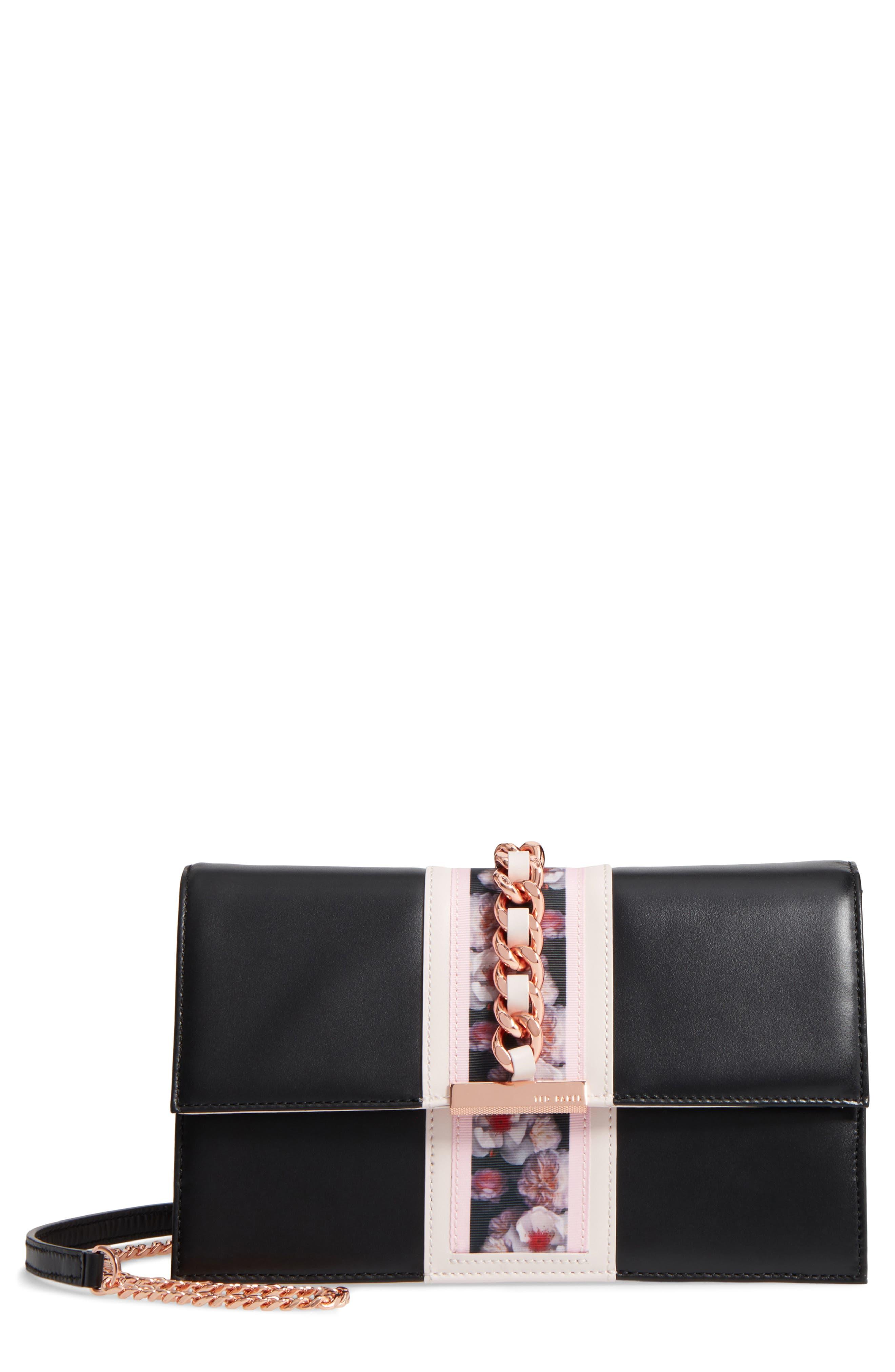 Ulayah Print Ribbon Crossbody Bag,                             Main thumbnail 1, color,                             001