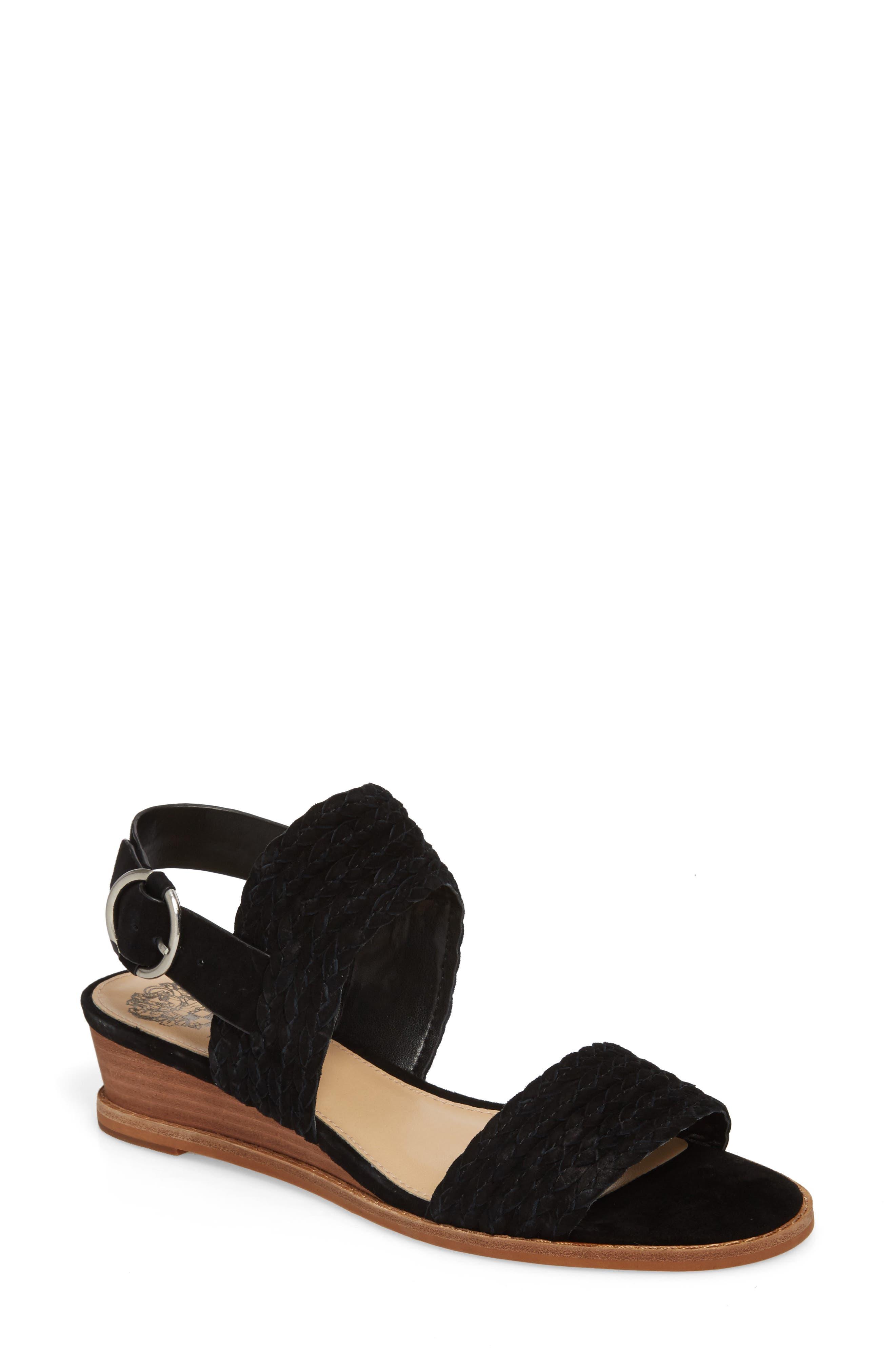 Raner Sandal,                         Main,                         color, BLACK SUEDE