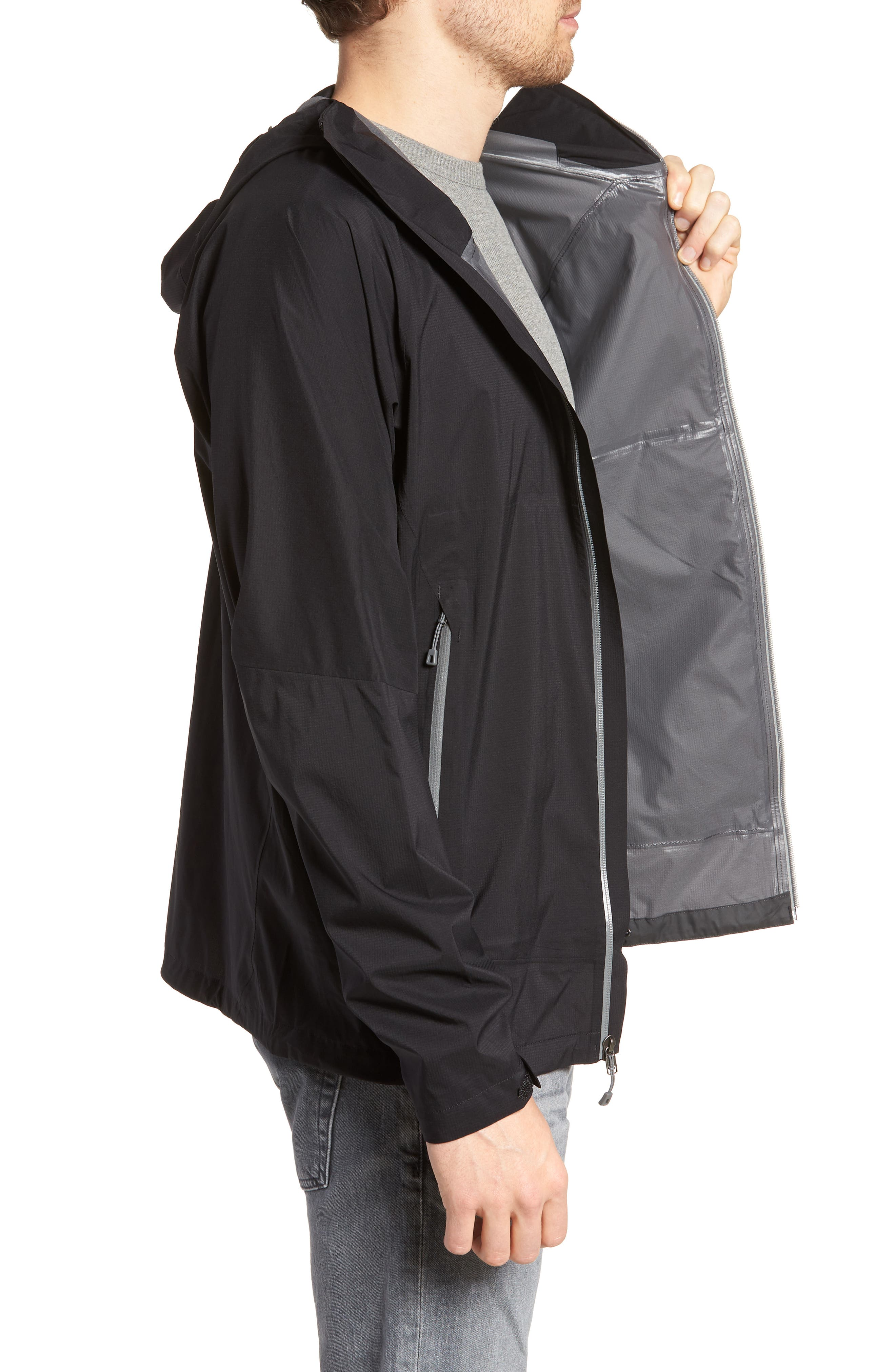 Stretch Rainshadow Jacket,                             Alternate thumbnail 3, color,                             001