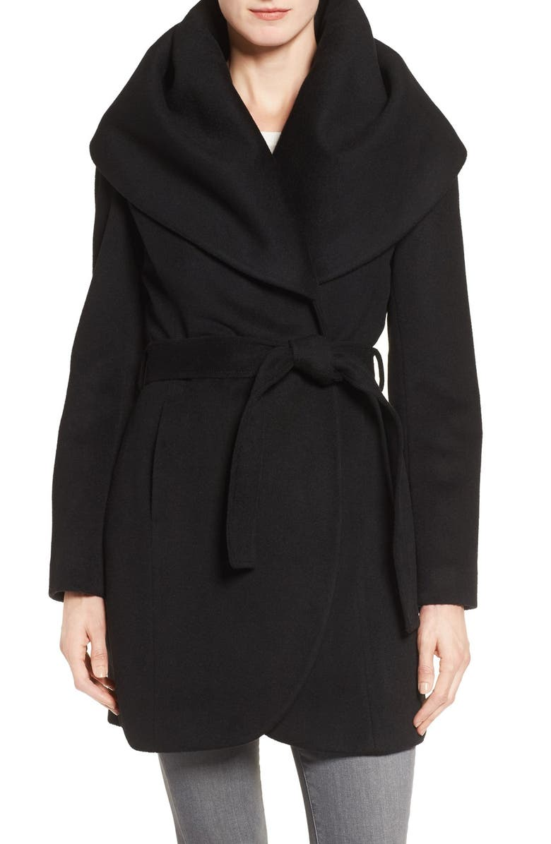 T Tahari Wool Blend Belted Wrap Coat | Nordstrom