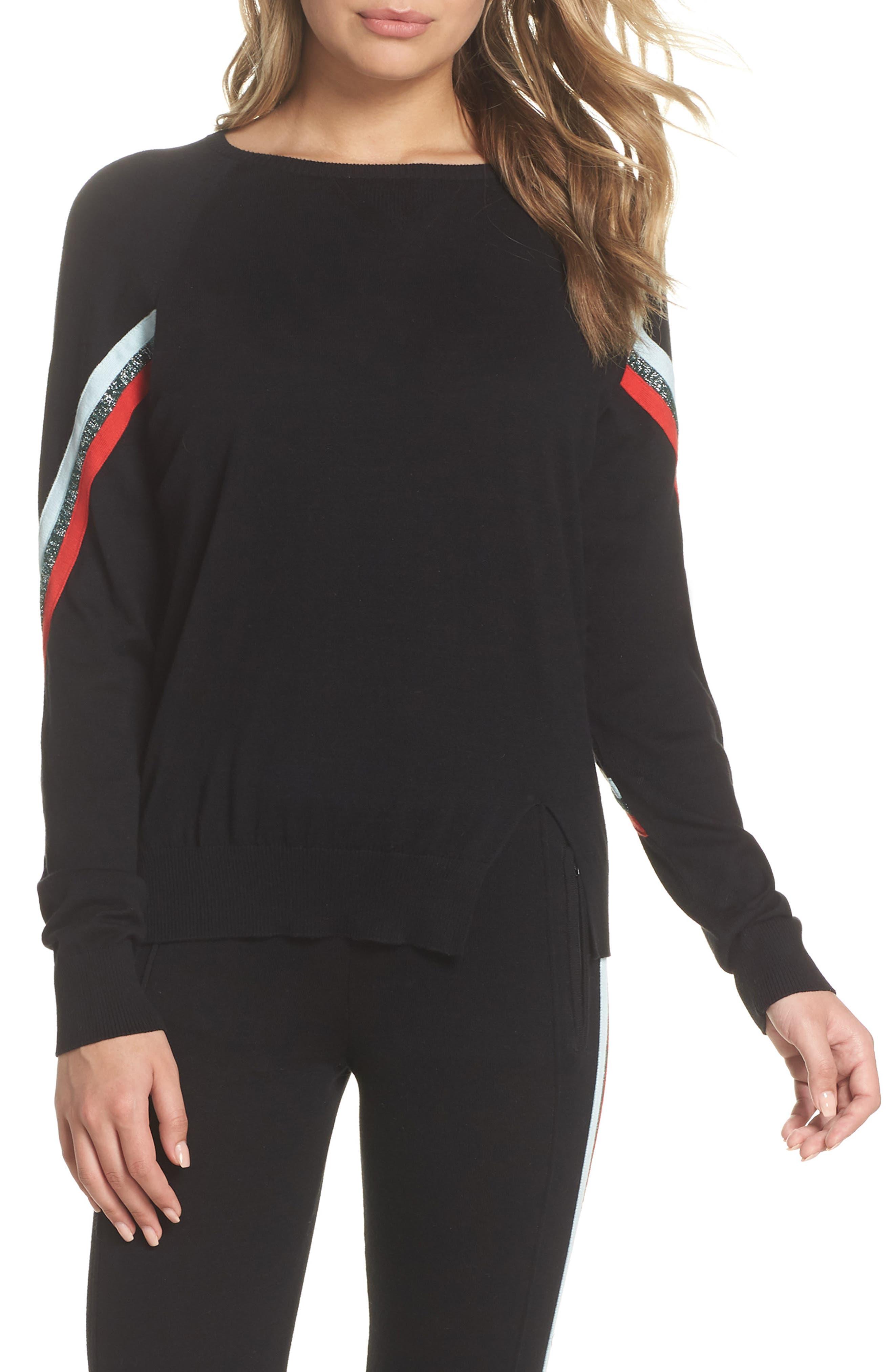 Rainbow Stripe Sweater,                             Main thumbnail 1, color,                             001