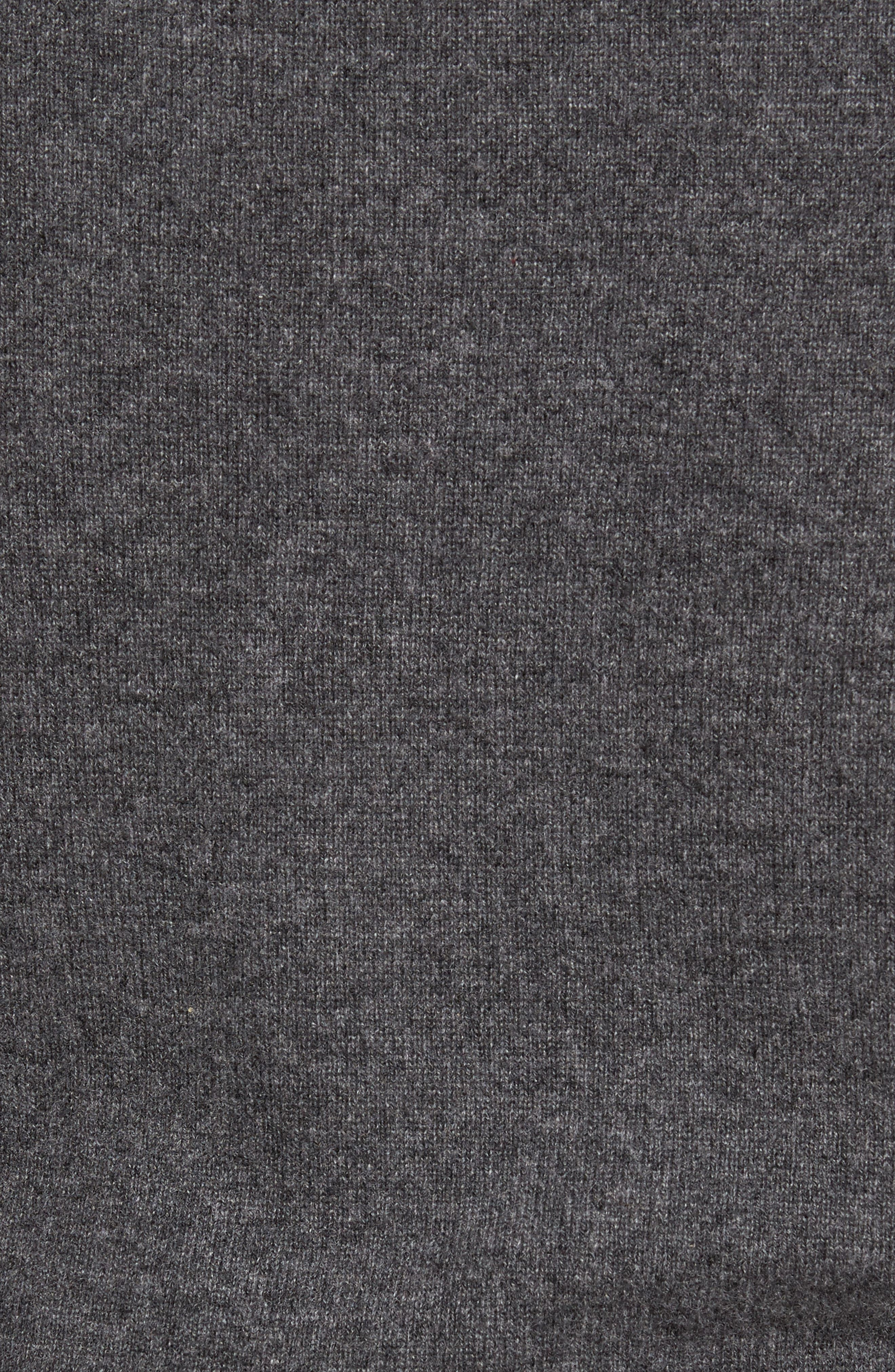 Cashmere V-Neck Sweater,                             Alternate thumbnail 5, color,                             GREY SHADE