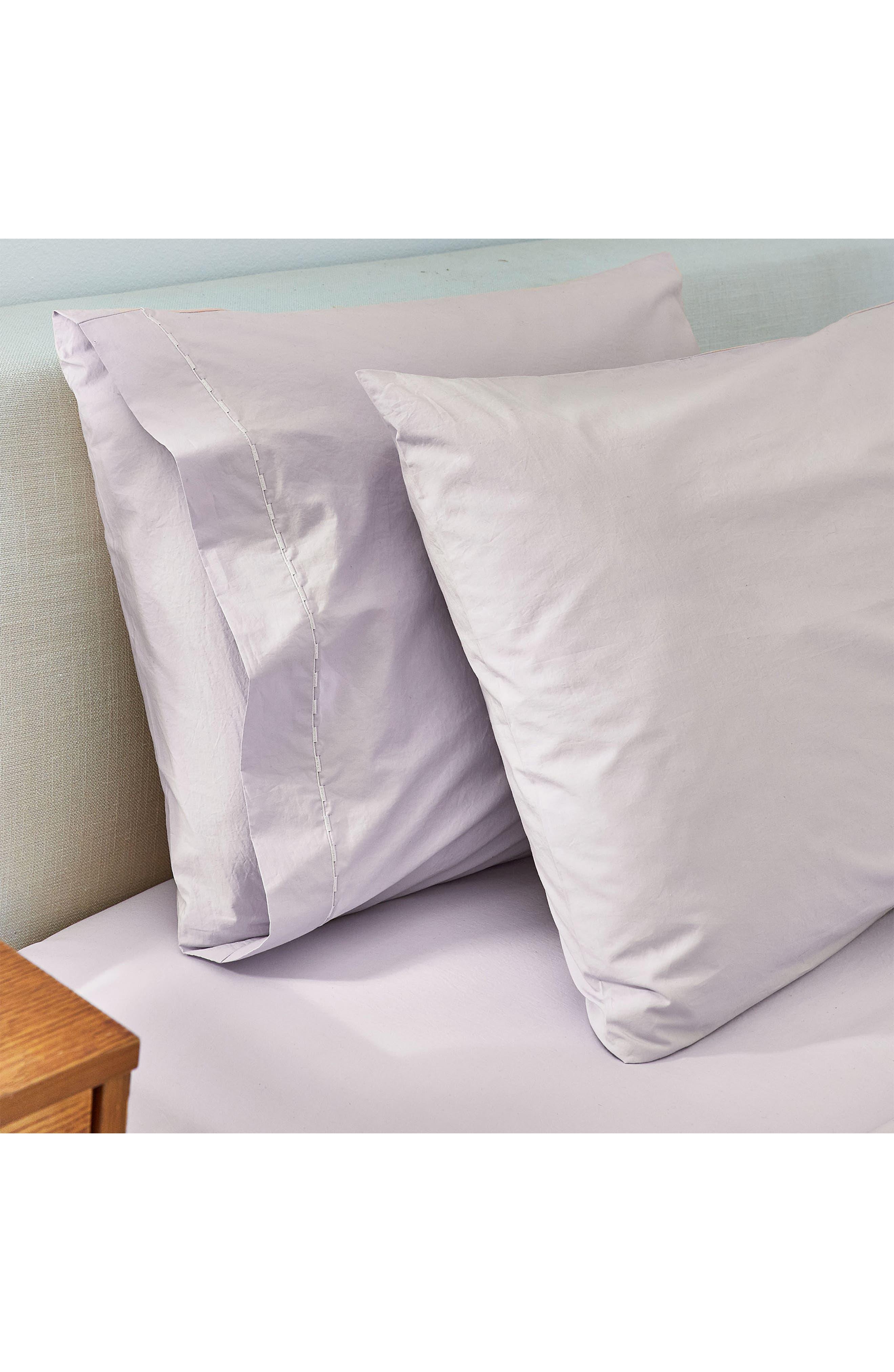 SPLENDID HOME DECOR Spendid Home Decor Cotton Percale Pillowcases, Main, color, MIST