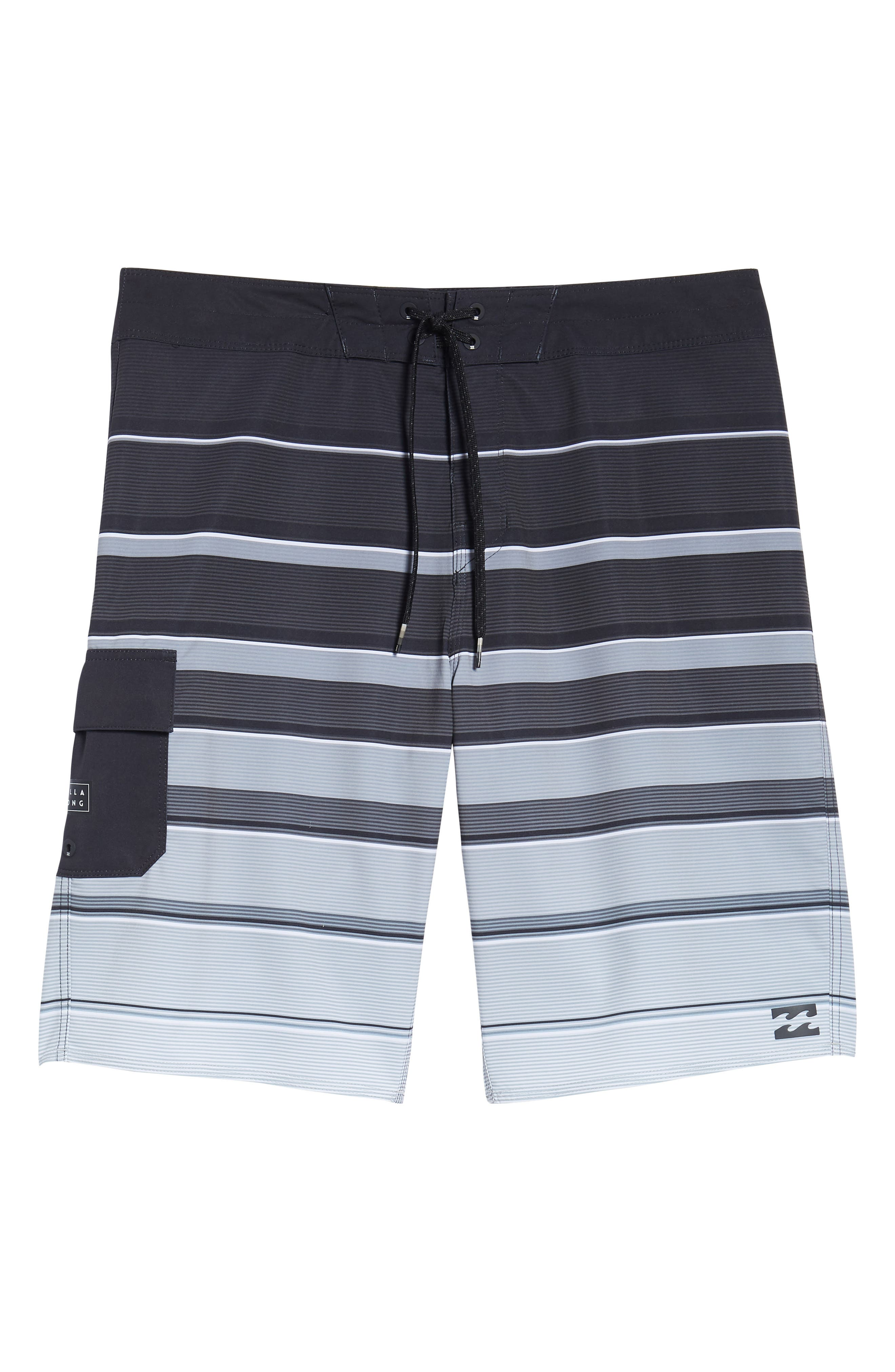 All Day X Stripe Board Shorts,                             Alternate thumbnail 6, color,                             001