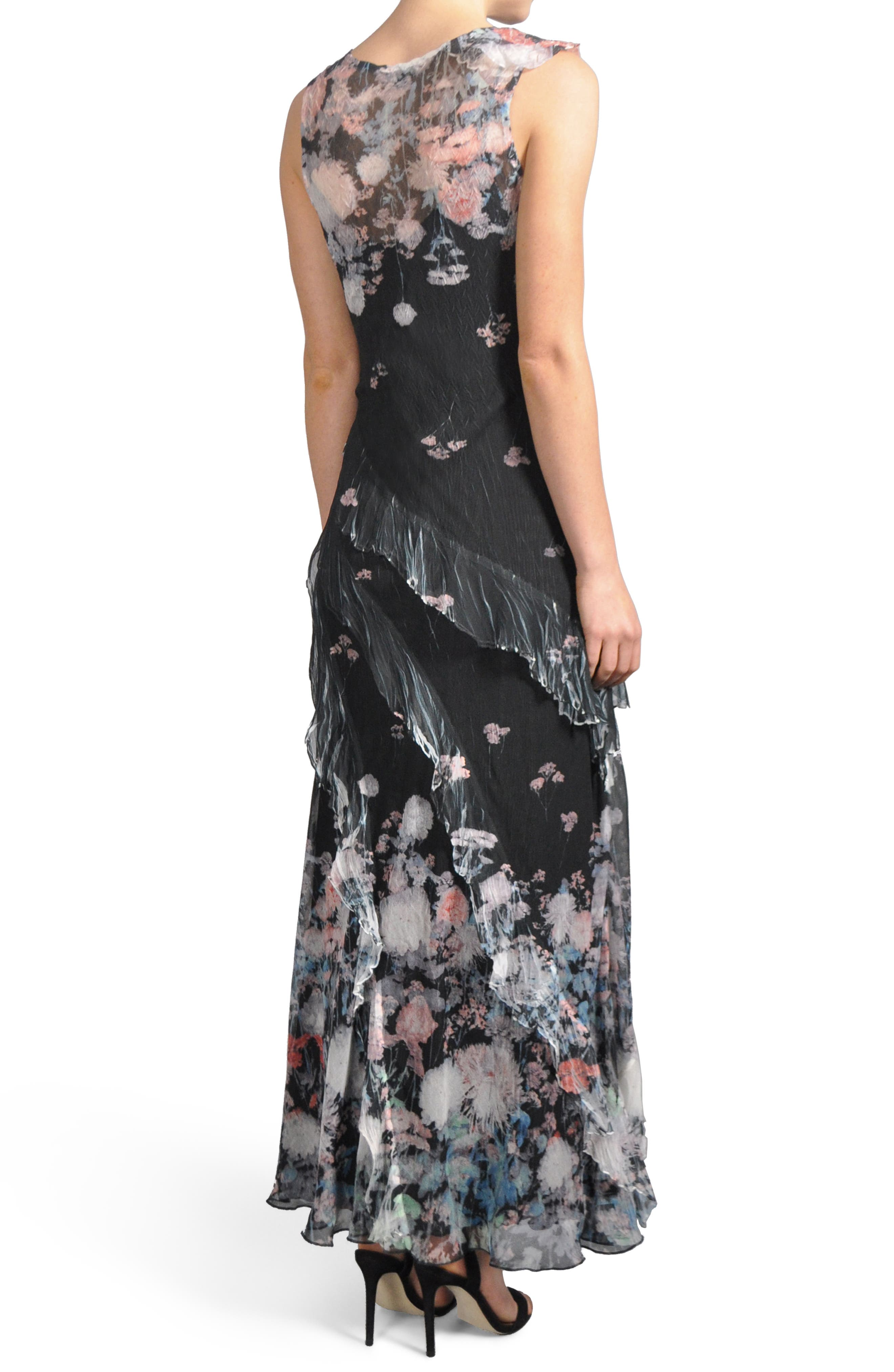 Ruffle Maxi Dress with Wrap,                             Alternate thumbnail 2, color,                             008