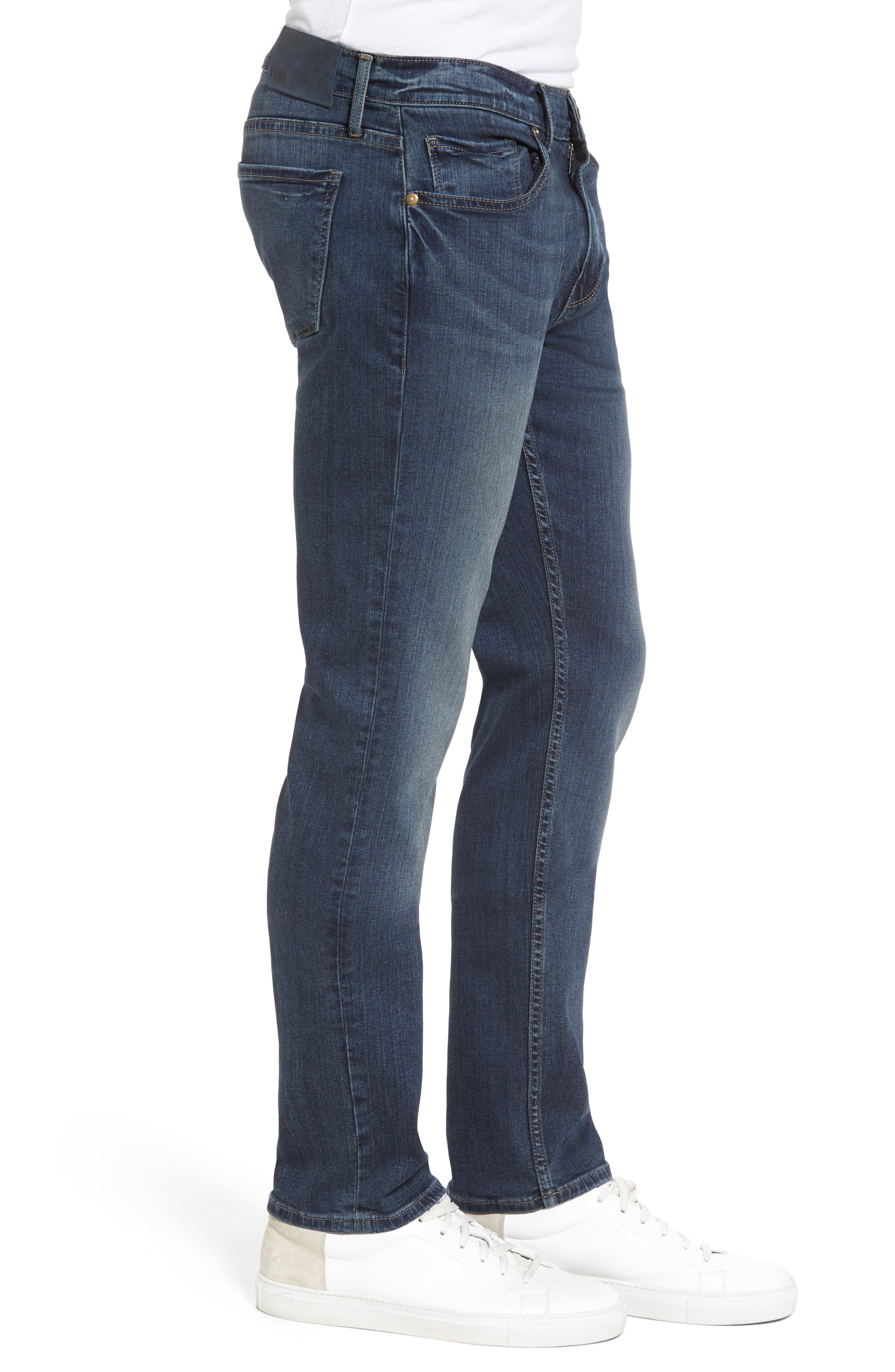 Transcend - Federal Slim Straight Leg Jeans,                             Alternate thumbnail 3, color,                             400
