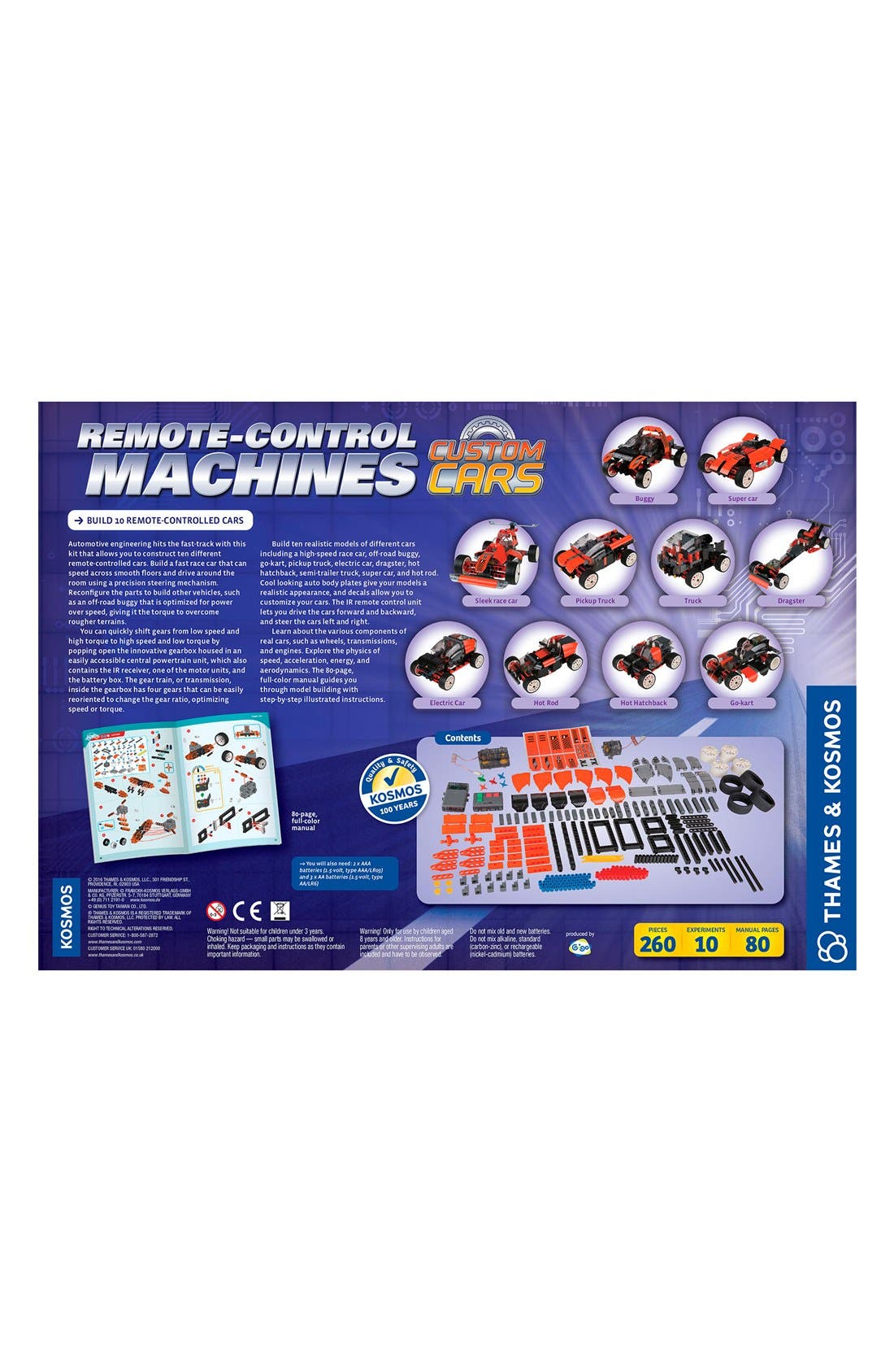 Remote Control Machines: Custom Cars Engineering Kit,                             Alternate thumbnail 2, color,                             BLUE