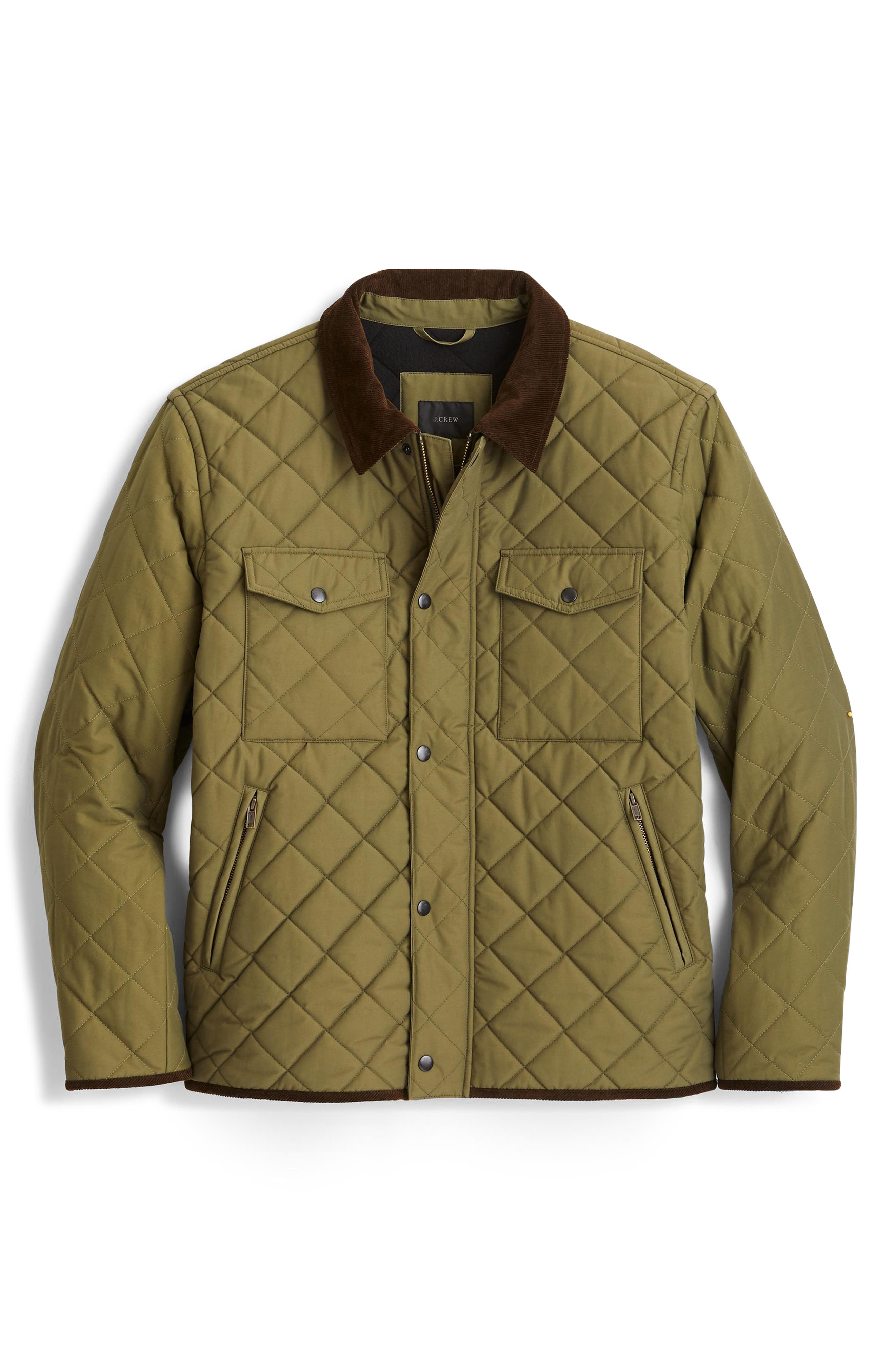 Sussex Quilted Jacket with Corduroy Collar,                             Alternate thumbnail 3, color,                             300
