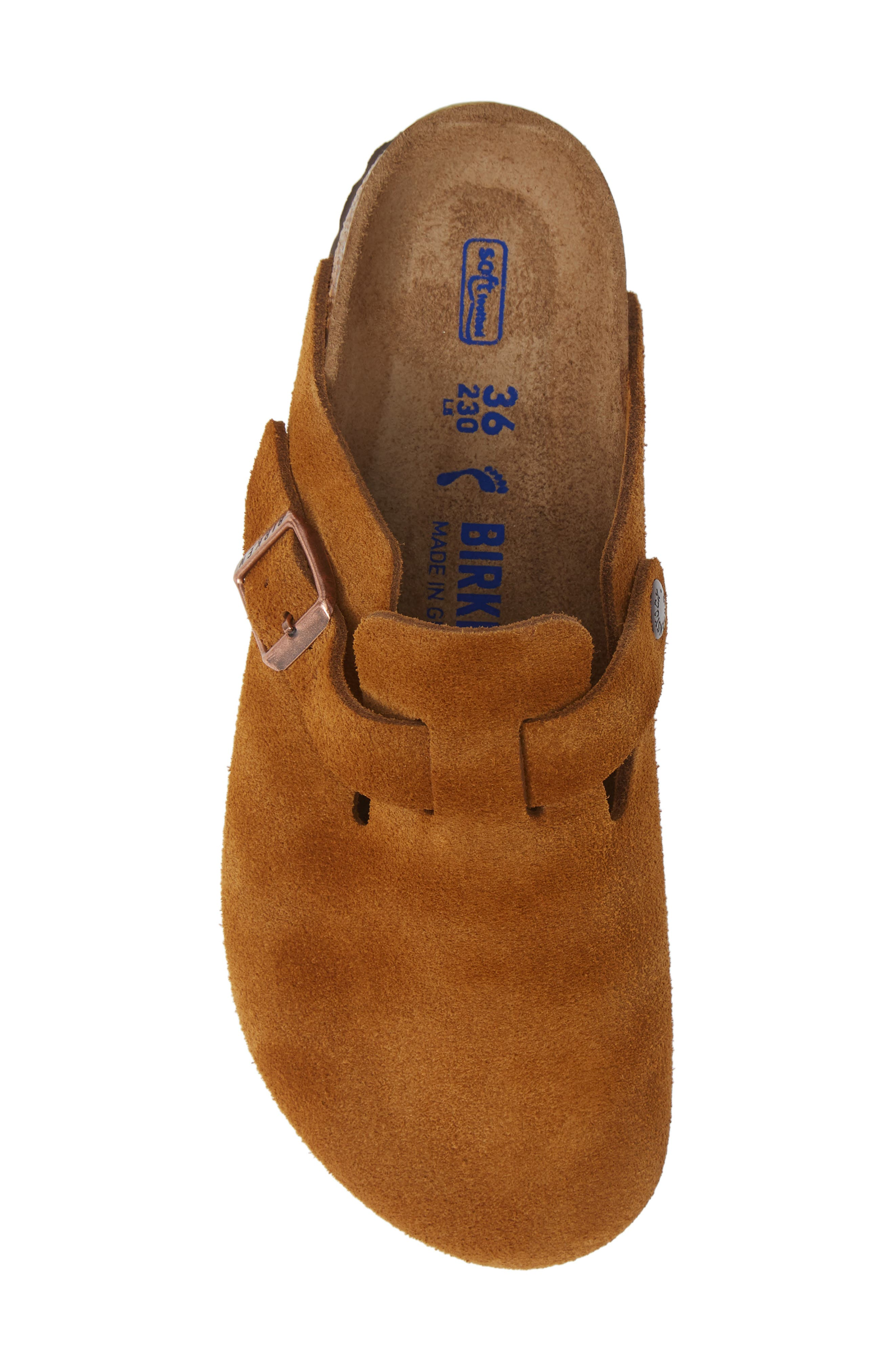 'Boston' Soft Footbed Clog,                             Alternate thumbnail 5, color,                             MINK SUEDE