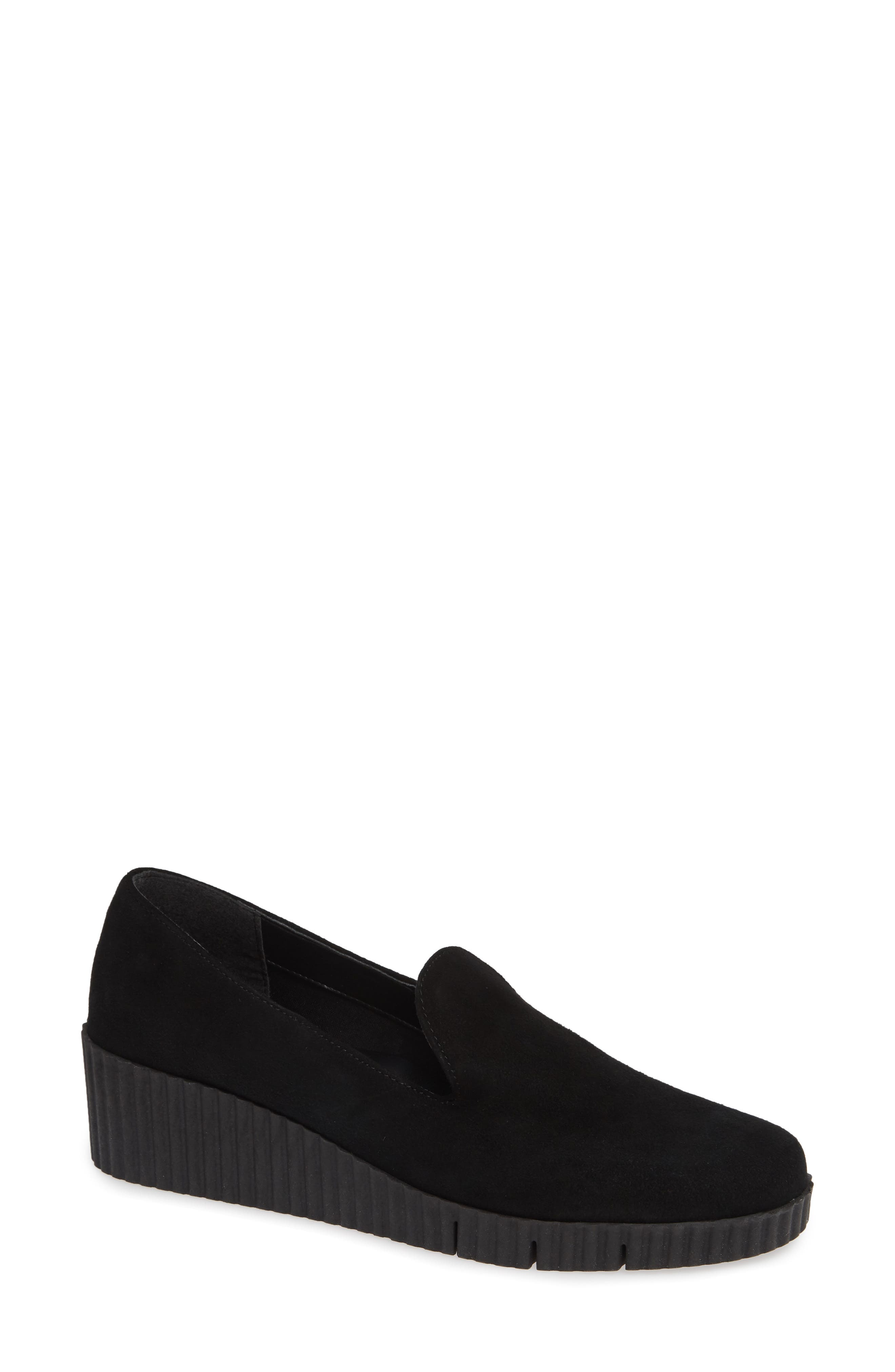 Fast Times Loafer,                             Main thumbnail 1, color,                             BLACK SUEDE