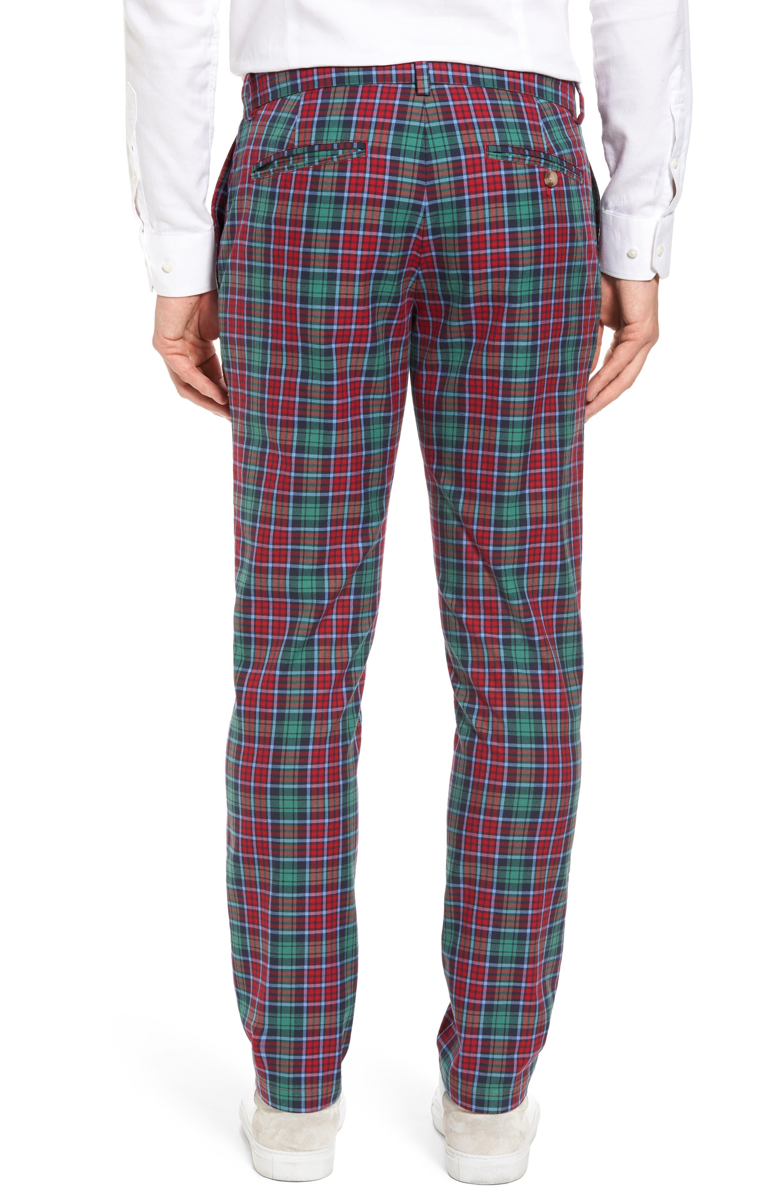 Leddy Park Slim Plaid Pants,                             Alternate thumbnail 2, color,                             342