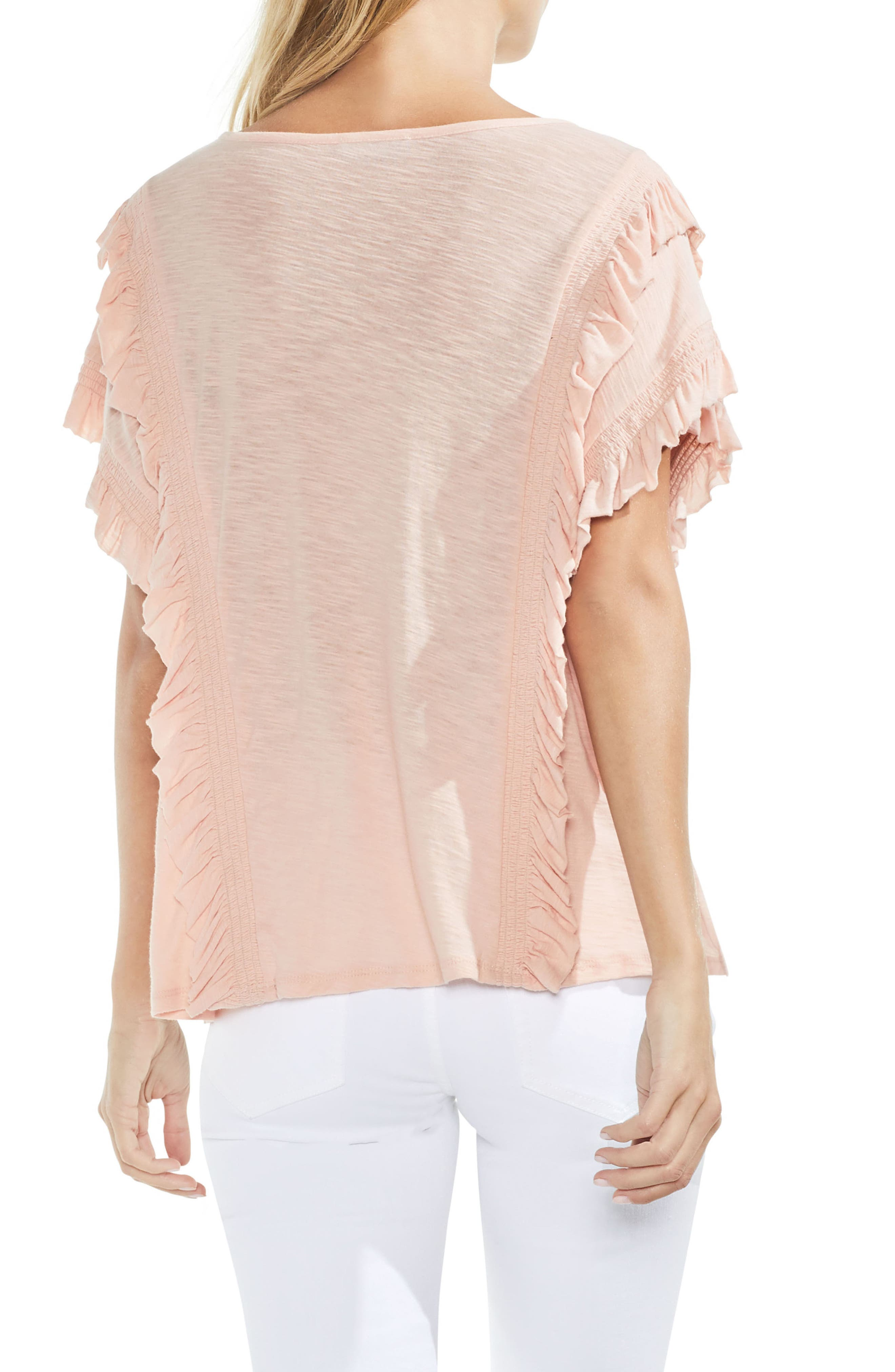 Ruffle Front Top,                             Alternate thumbnail 8, color,