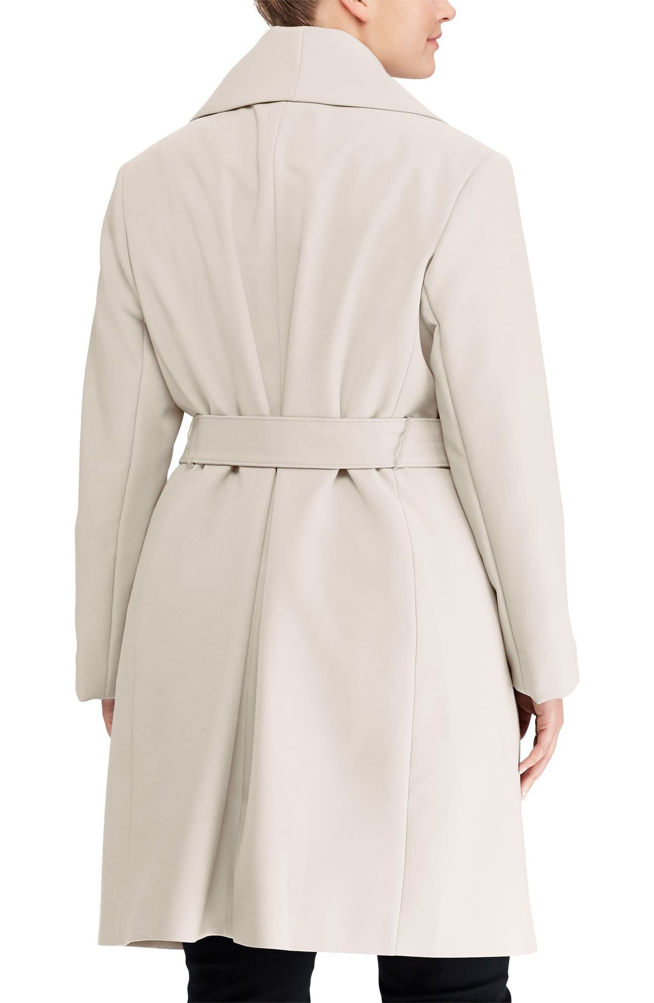 Belted Drape Front Coat,                             Alternate thumbnail 2, color,                             288