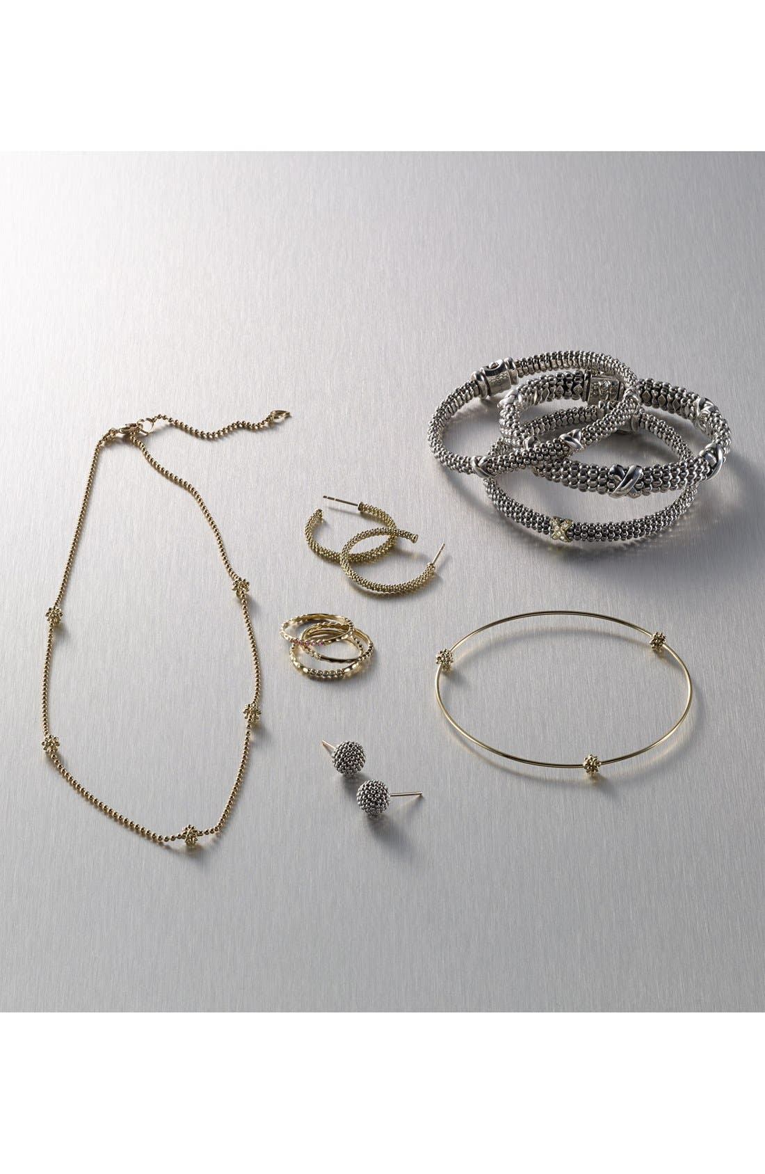 'Signature Caviar' Oval Rope Bracelet,                             Alternate thumbnail 4, color,                             STERLING SILVER