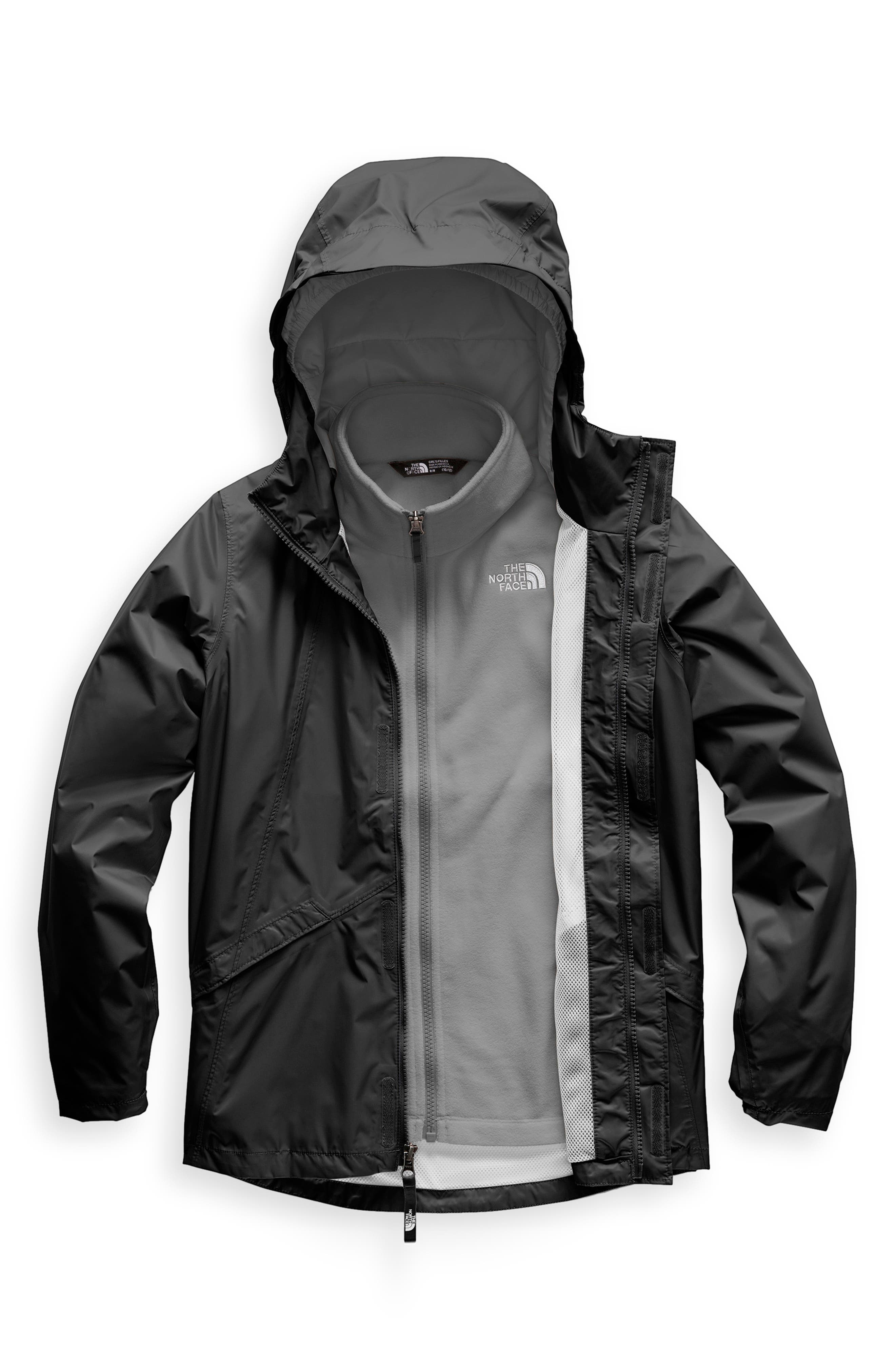 Stormy Rain Triclimate<sup>®</sup> Waterproof 3-in-1 Jacket,                             Main thumbnail 1, color,                             TNF BLACK