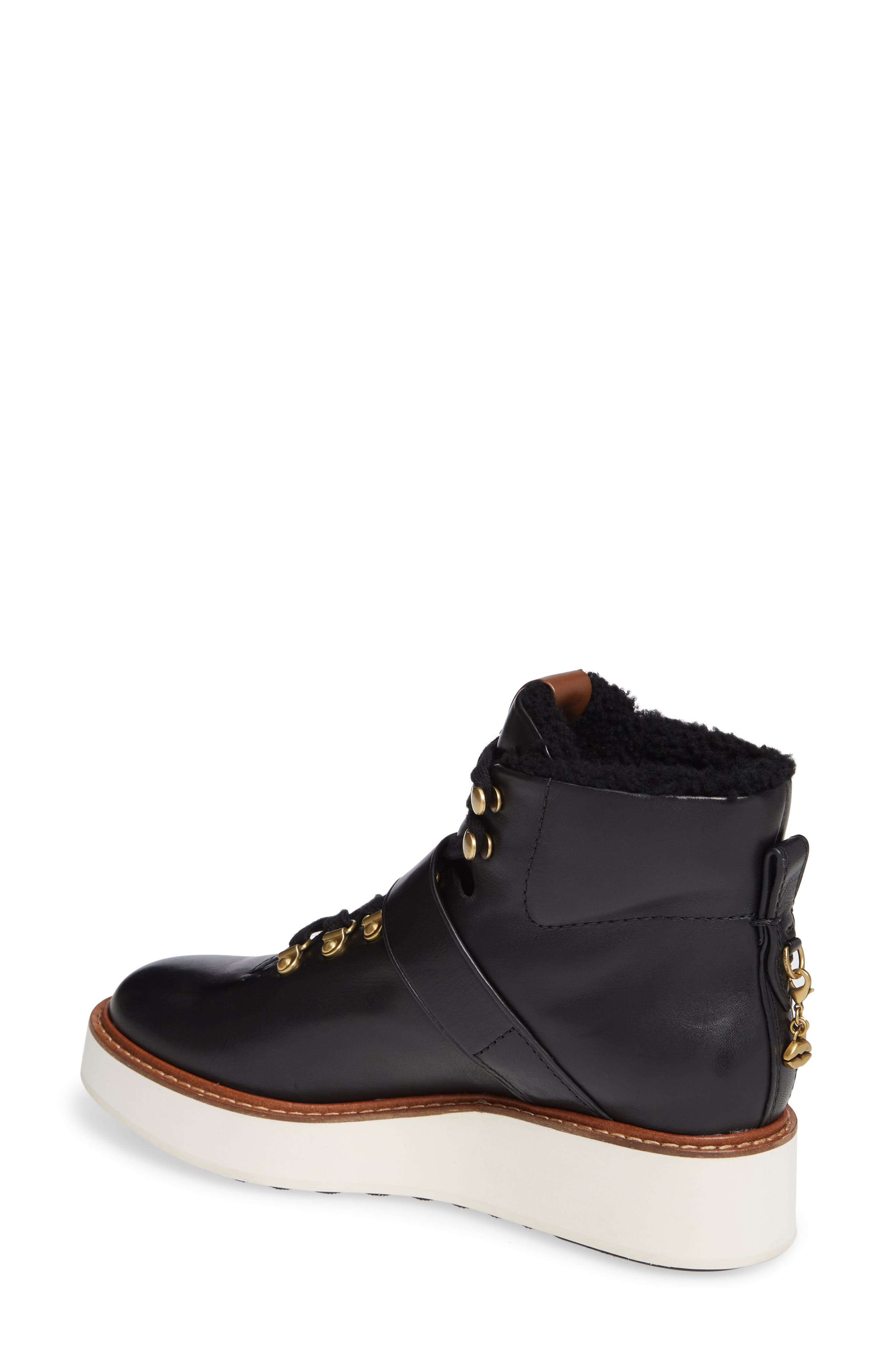 Urban Hiker Genuine Shearling Lined Bootie,                             Alternate thumbnail 2, color,                             001