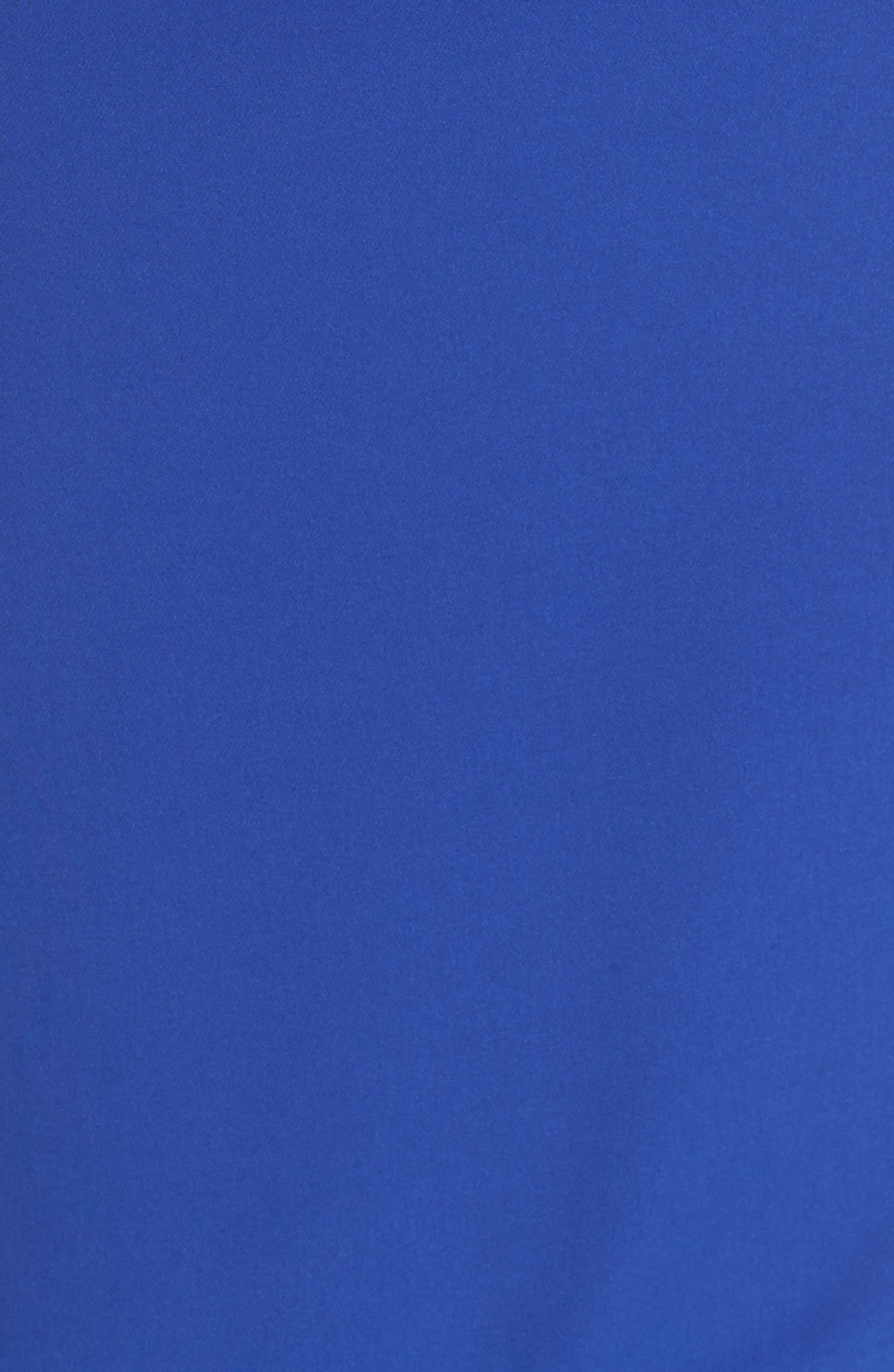 Ruffle Stretch Crepe Sheath Dress,                             Alternate thumbnail 27, color,