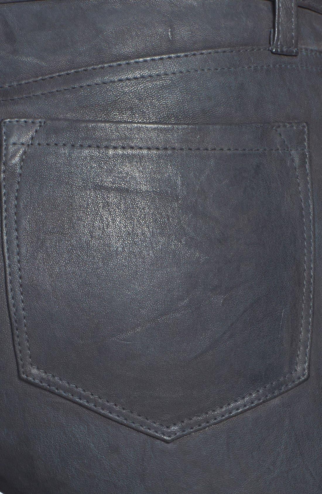 '8001' Lambskin Leather Pants,                             Alternate thumbnail 55, color,